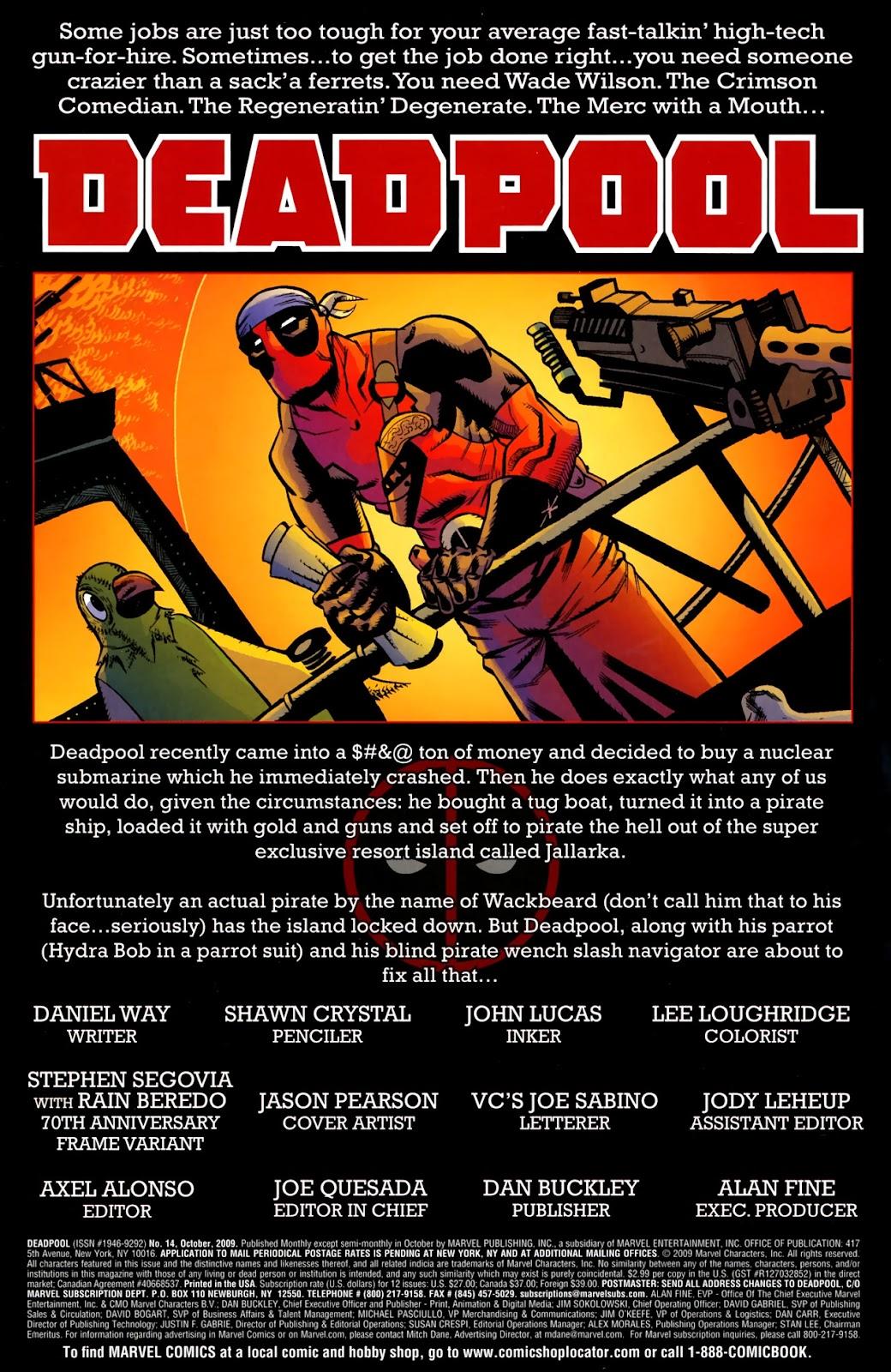 Read online Deadpool (2008) comic -  Issue #14 - 2