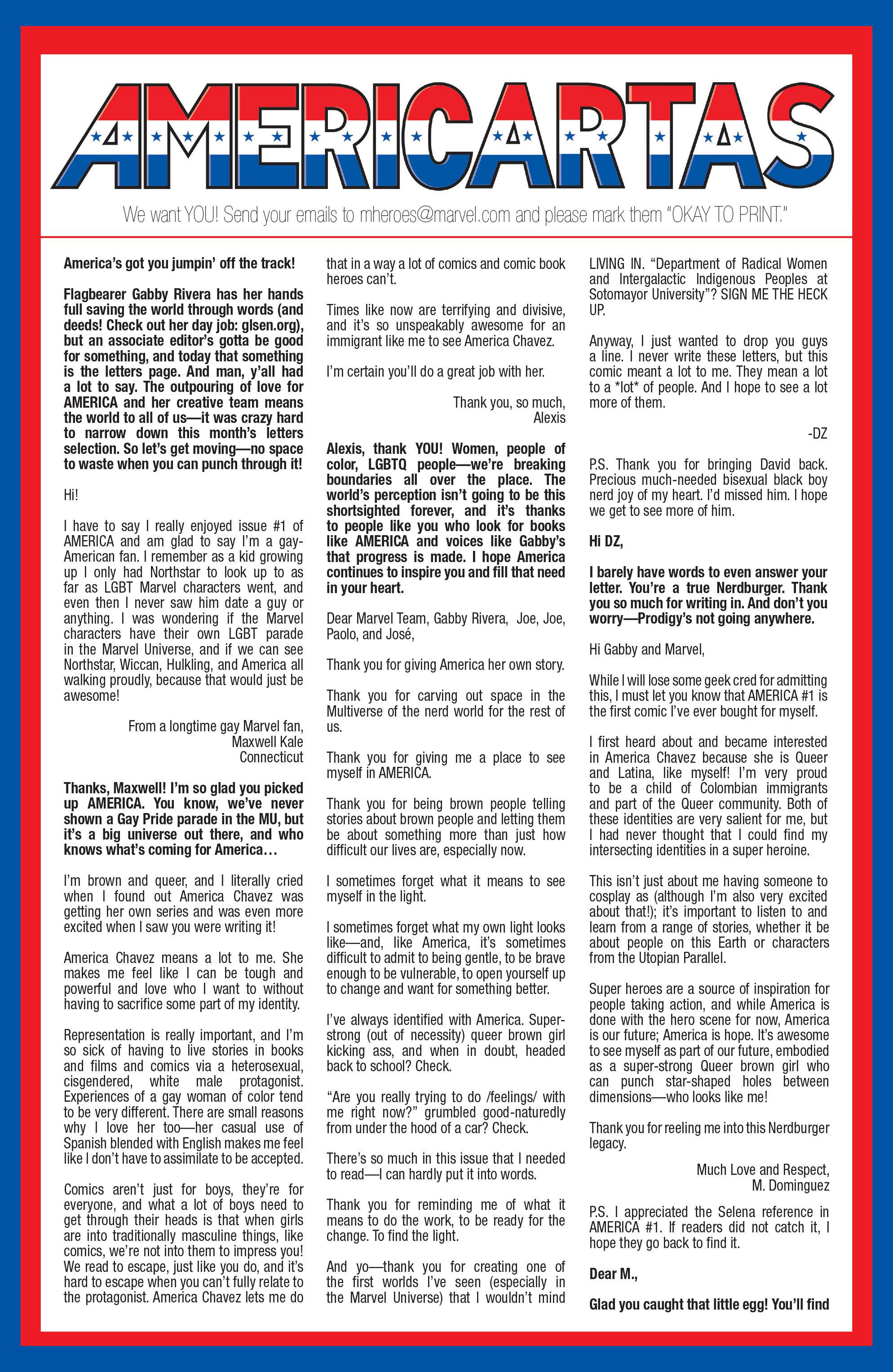 Read online America (2016) comic -  Issue #3 - 21