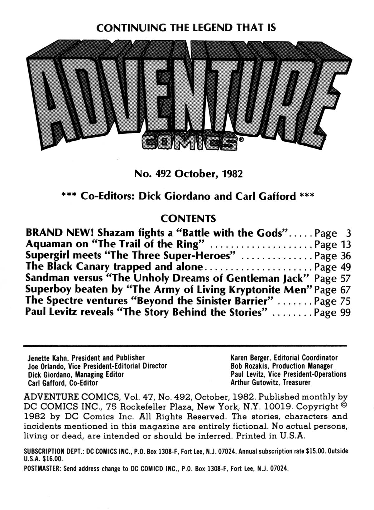 Read online Adventure Comics (1938) comic -  Issue #492 - 2