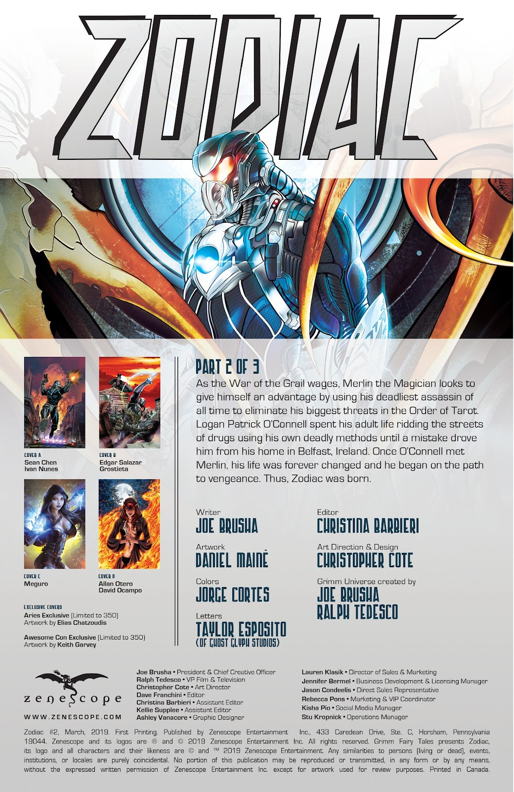 Read online Zodiac comic -  Issue #2 - 2