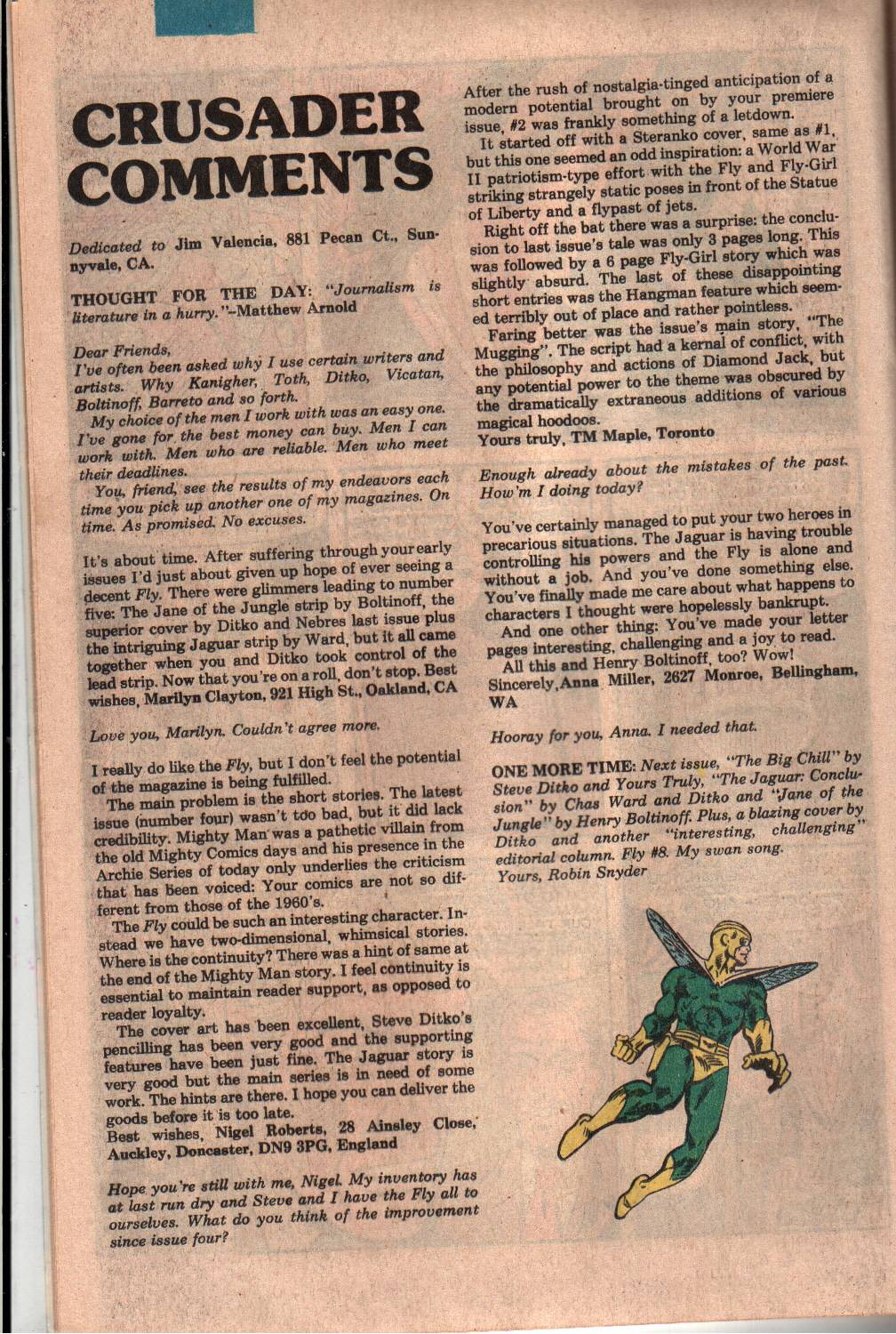 Read online The Fly (1983) comic -  Issue #7 - 17