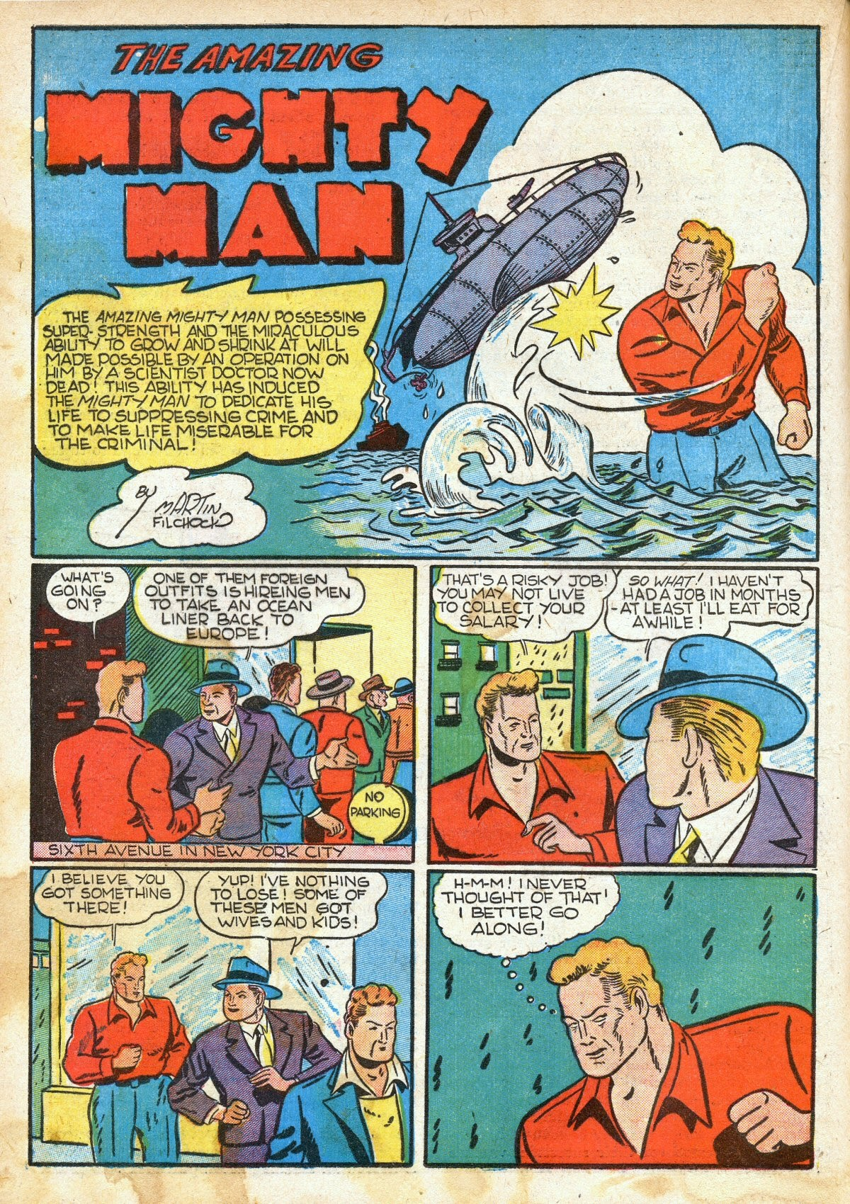 Read online Amazing Man Comics comic -  Issue #16 - 36