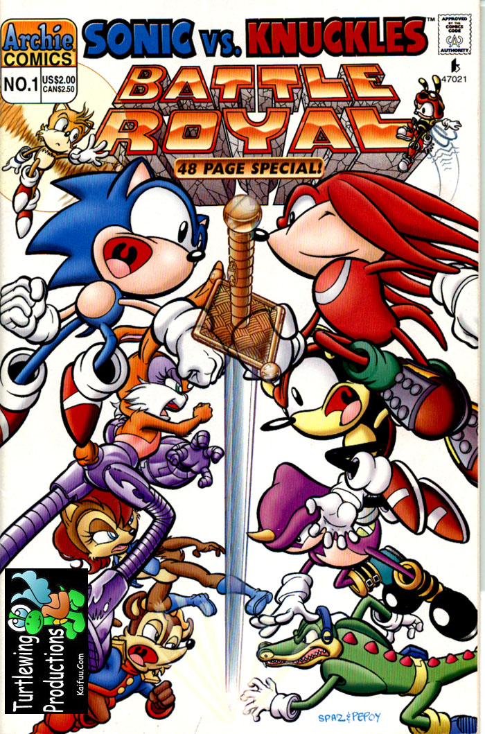 Read online Sonic Super Special comic -  Issue #1 - Sonic Vs. Knuckles Battle Royal - 1