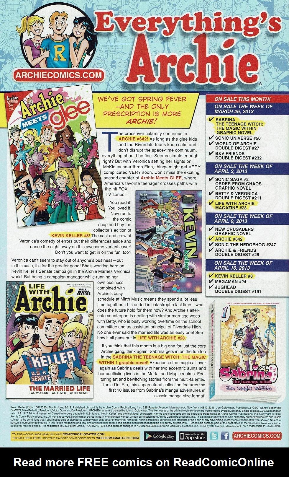 Read online Kevin Keller comic -  Issue #8 - 35