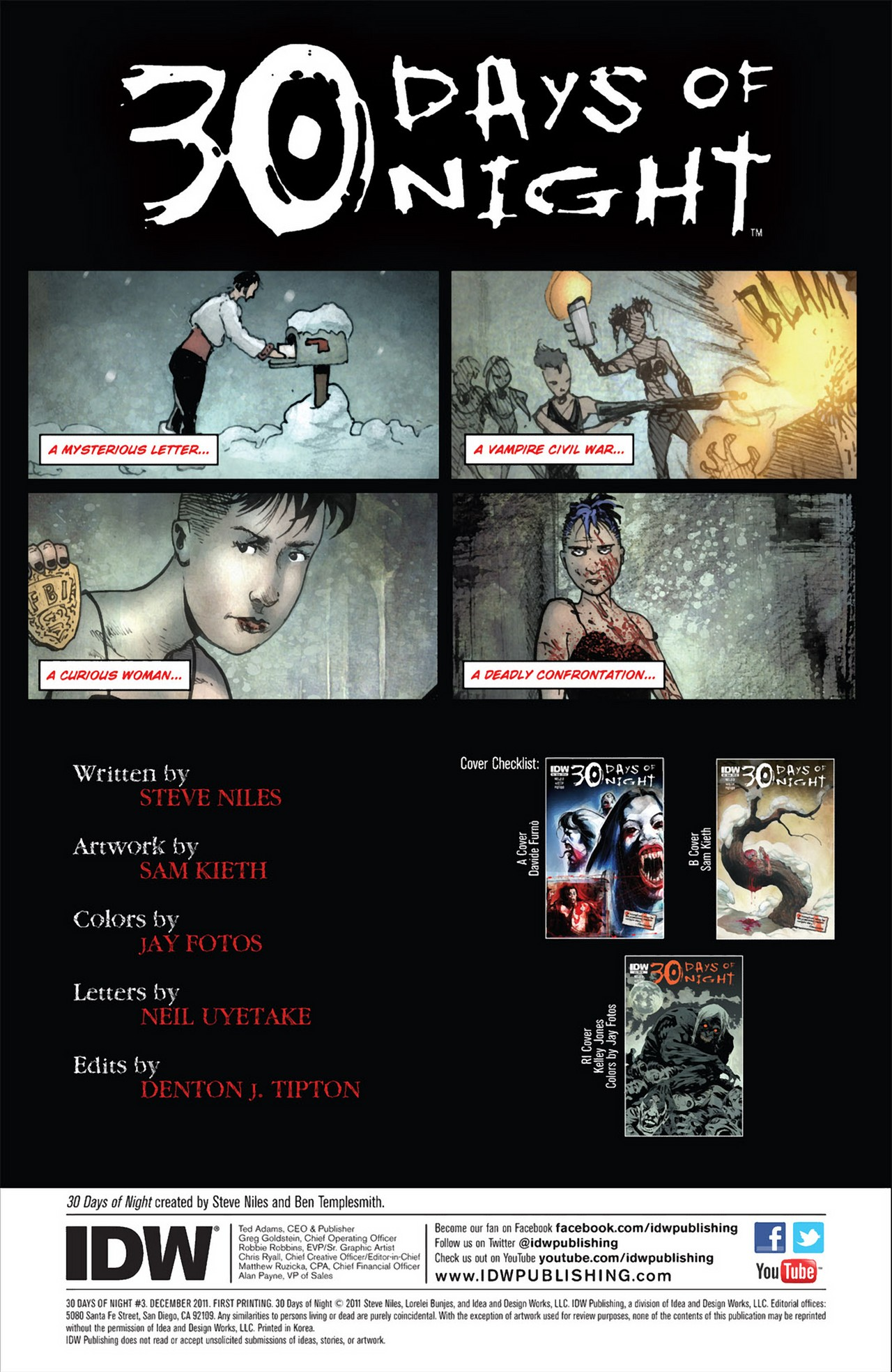 Read online 30 Days of Night (2011) comic -  Issue #3 - 4