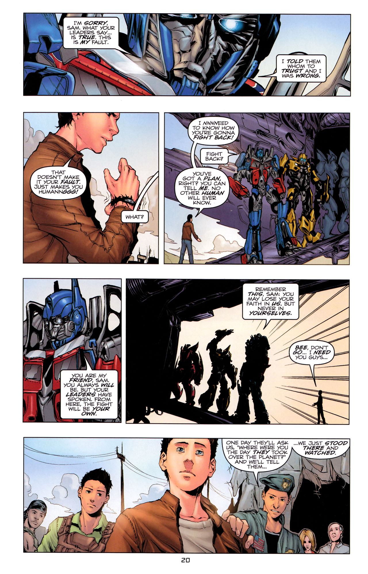 Read online Transformers: Dark of the Moon Movie Adaptation comic -  Issue #3 - 22