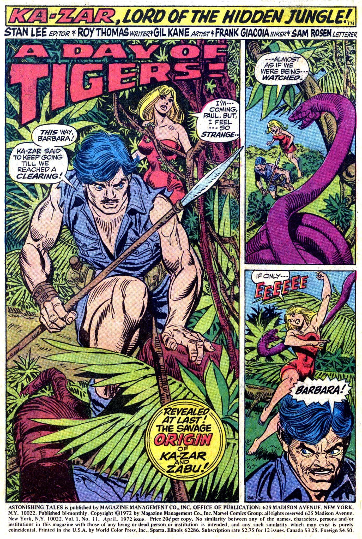 Read online Astonishing Tales (1970) comic -  Issue #11 - 2