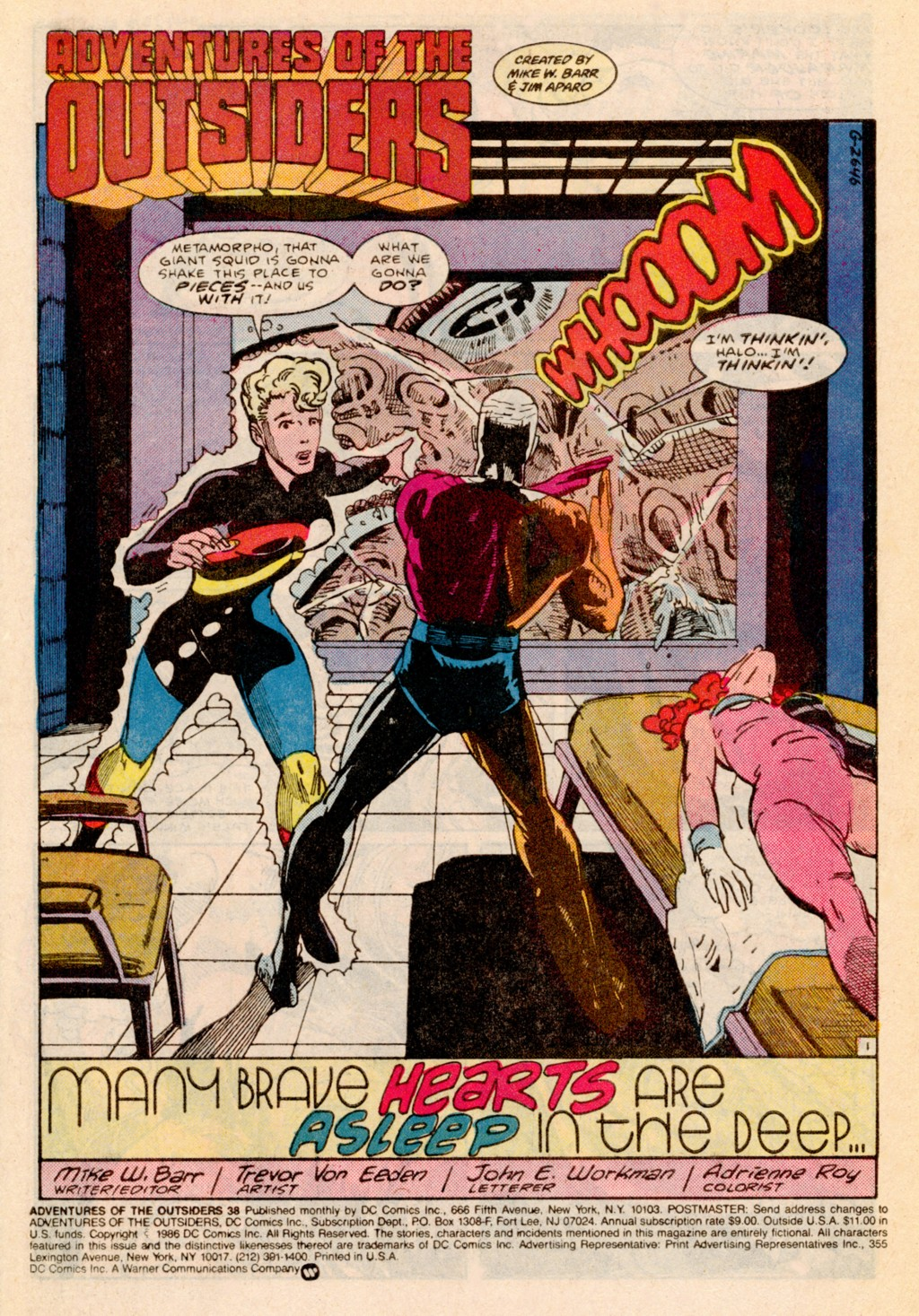 Read online Adventures of the Outsiders comic -  Issue #38 - 2