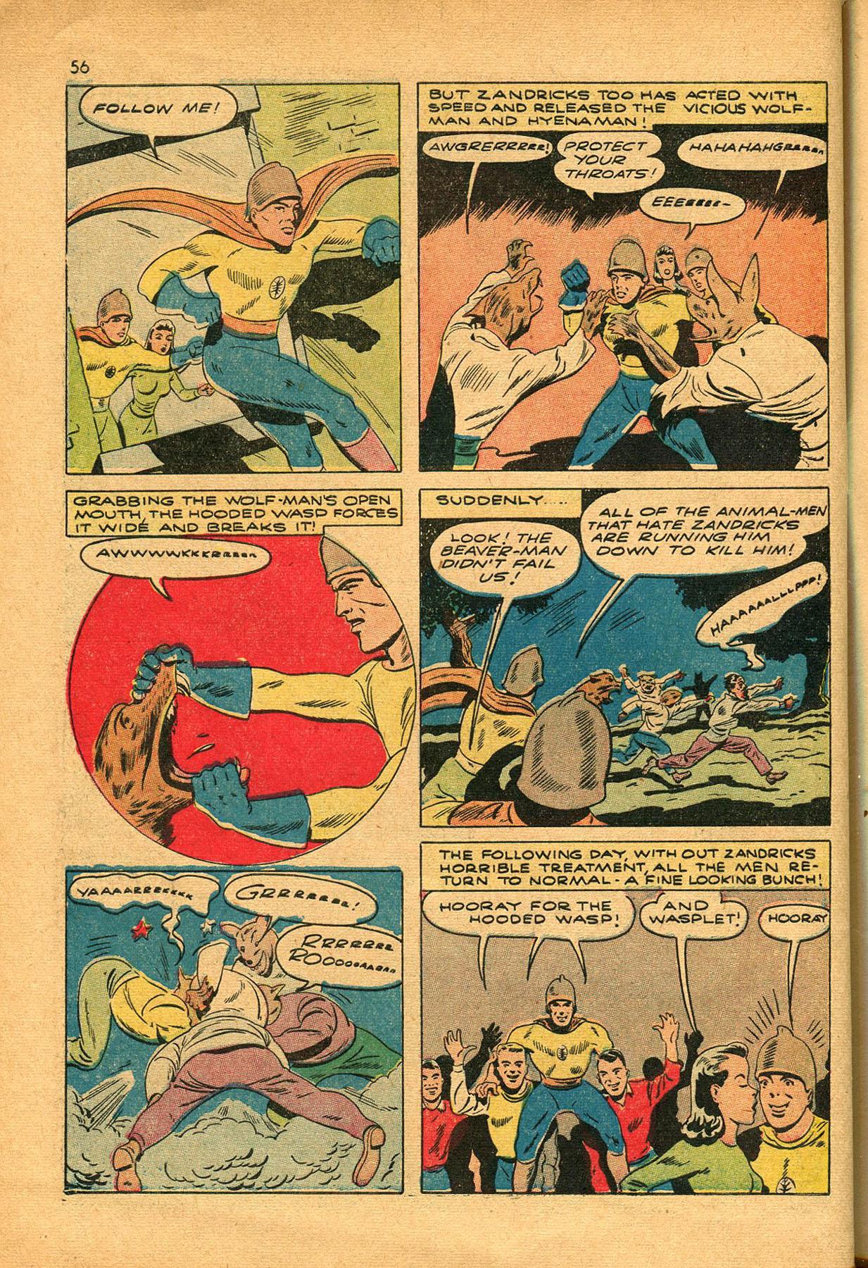 Read online Shadow Comics comic -  Issue #23 - 56