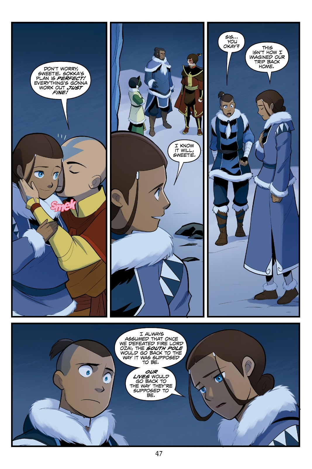 Nickelodeon Avatar: The Last Airbender - North and South issue 3 - Page 47