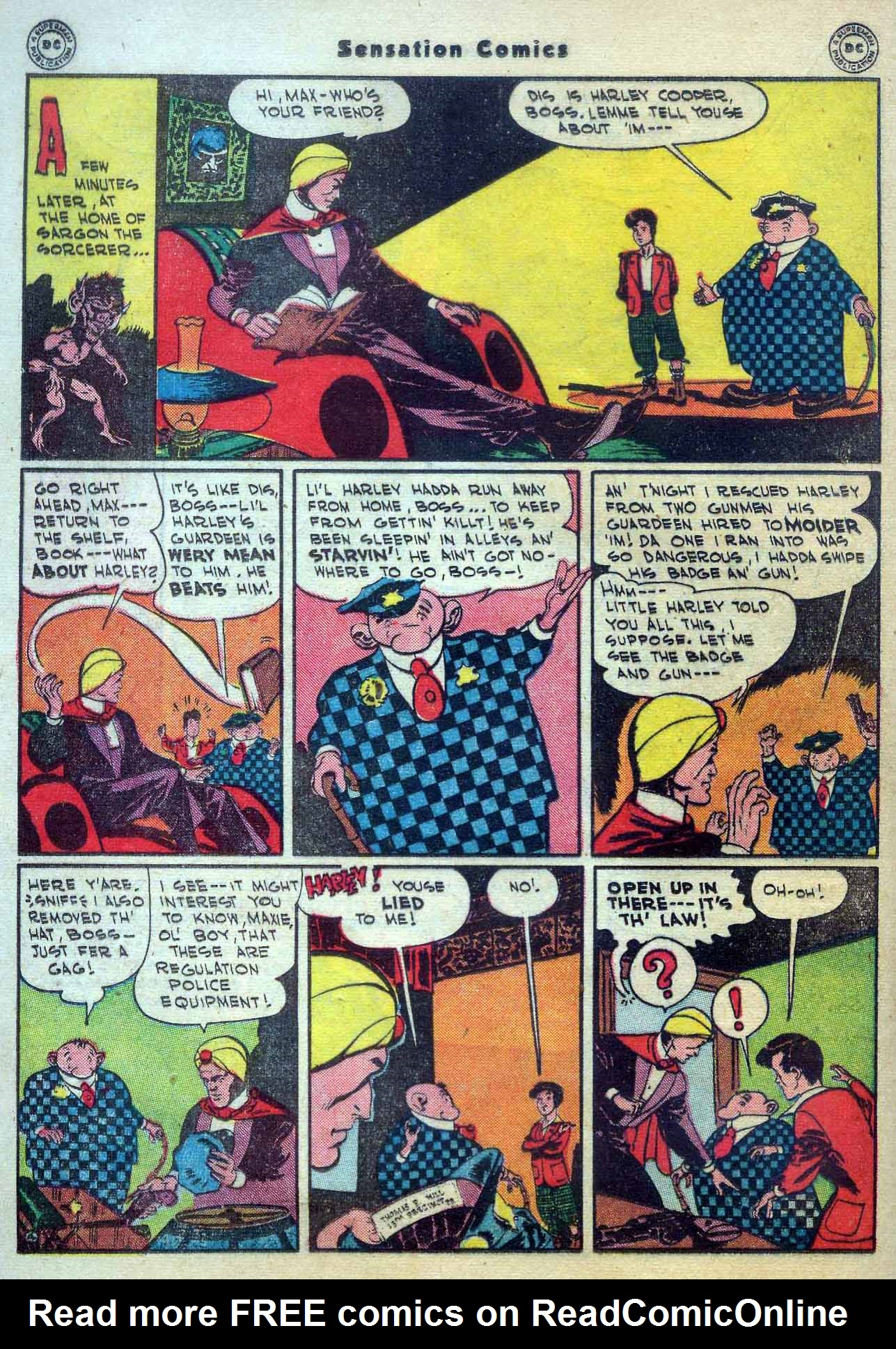 Read online Sensation (Mystery) Comics comic -  Issue #56 - 28