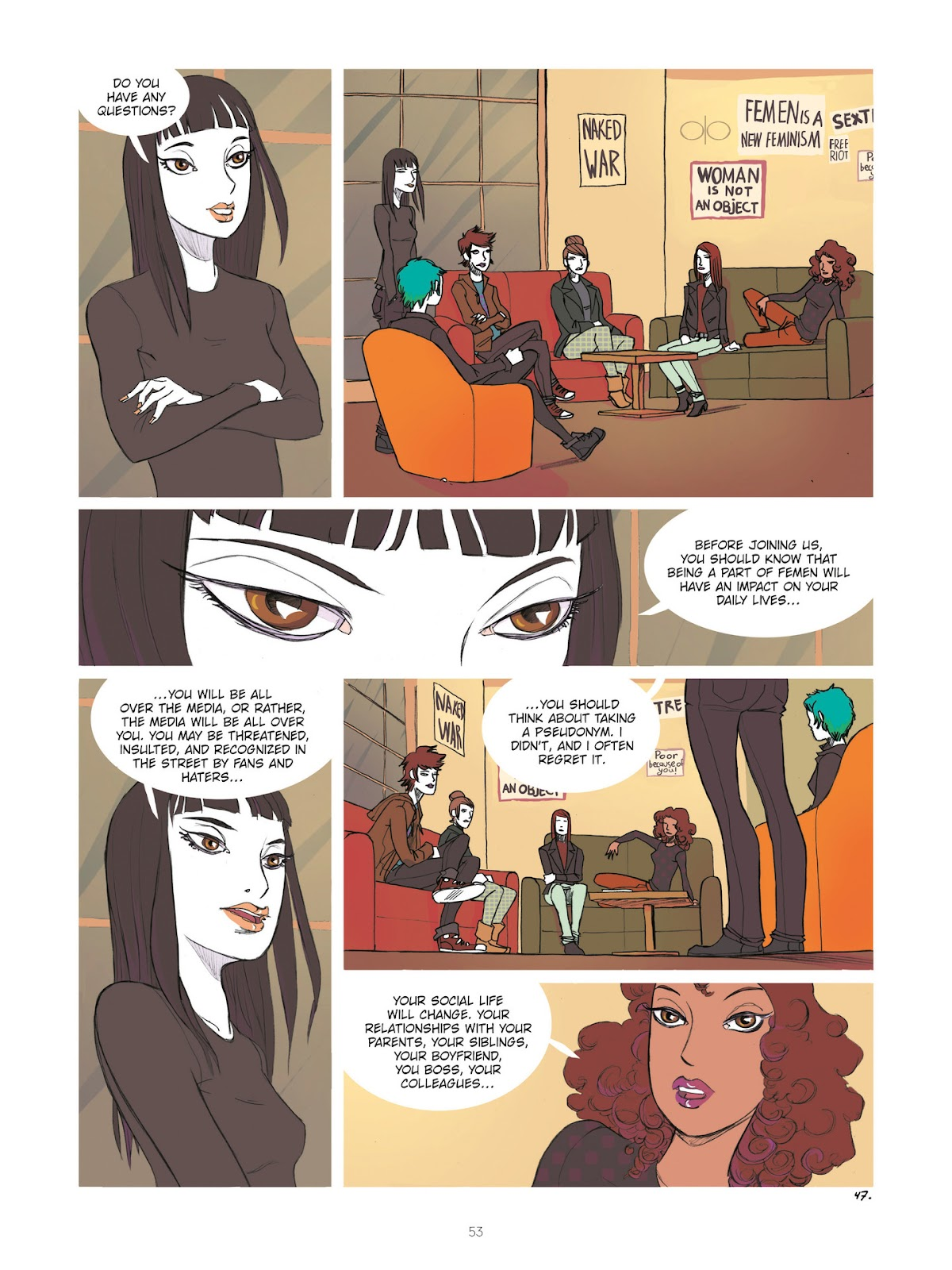 Read online Diary of A Femen comic -  Issue # TPB - 55