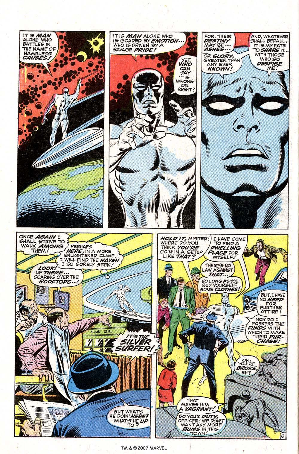 Read online Silver Surfer (1968) comic -  Issue #2 - 8