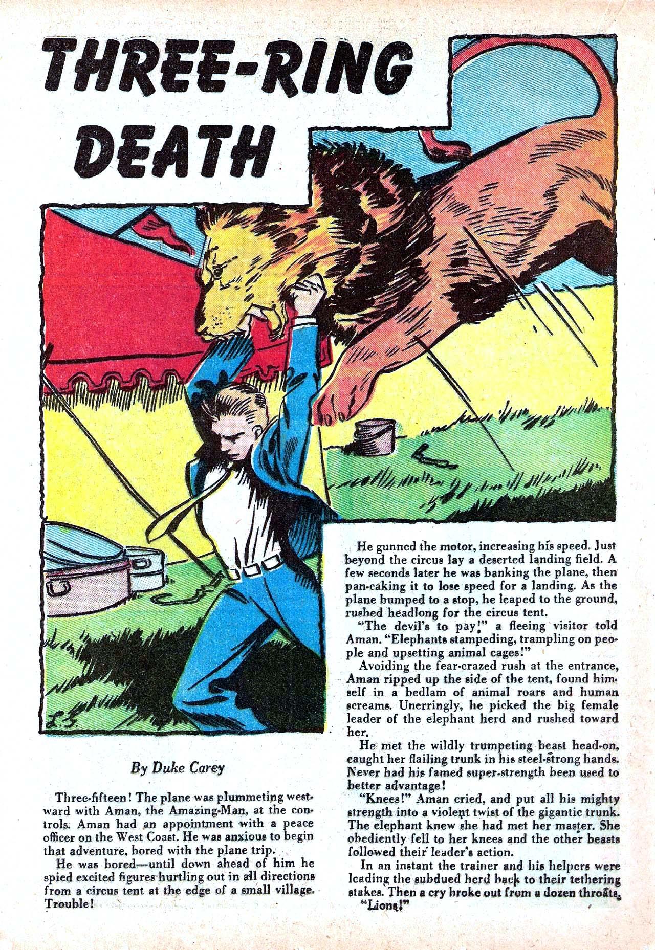 Read online Amazing Man Comics comic -  Issue #11 - 36