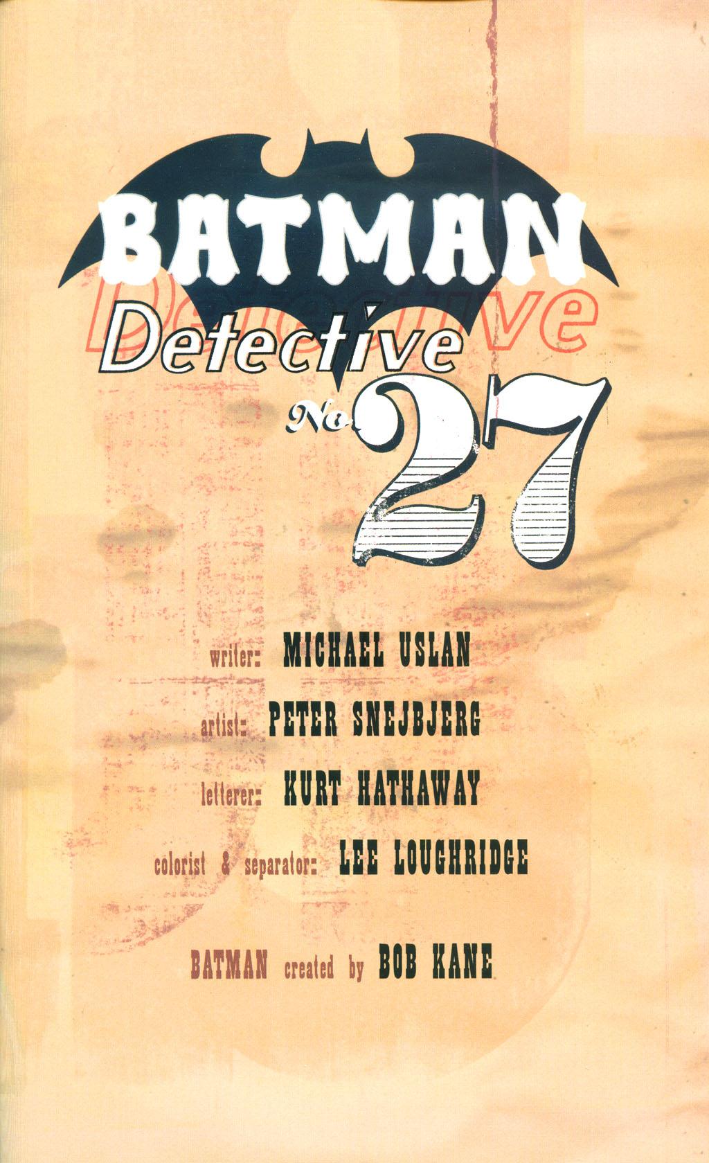 Read online Batman: Detective #27 comic -  Issue #27 TPB - 5