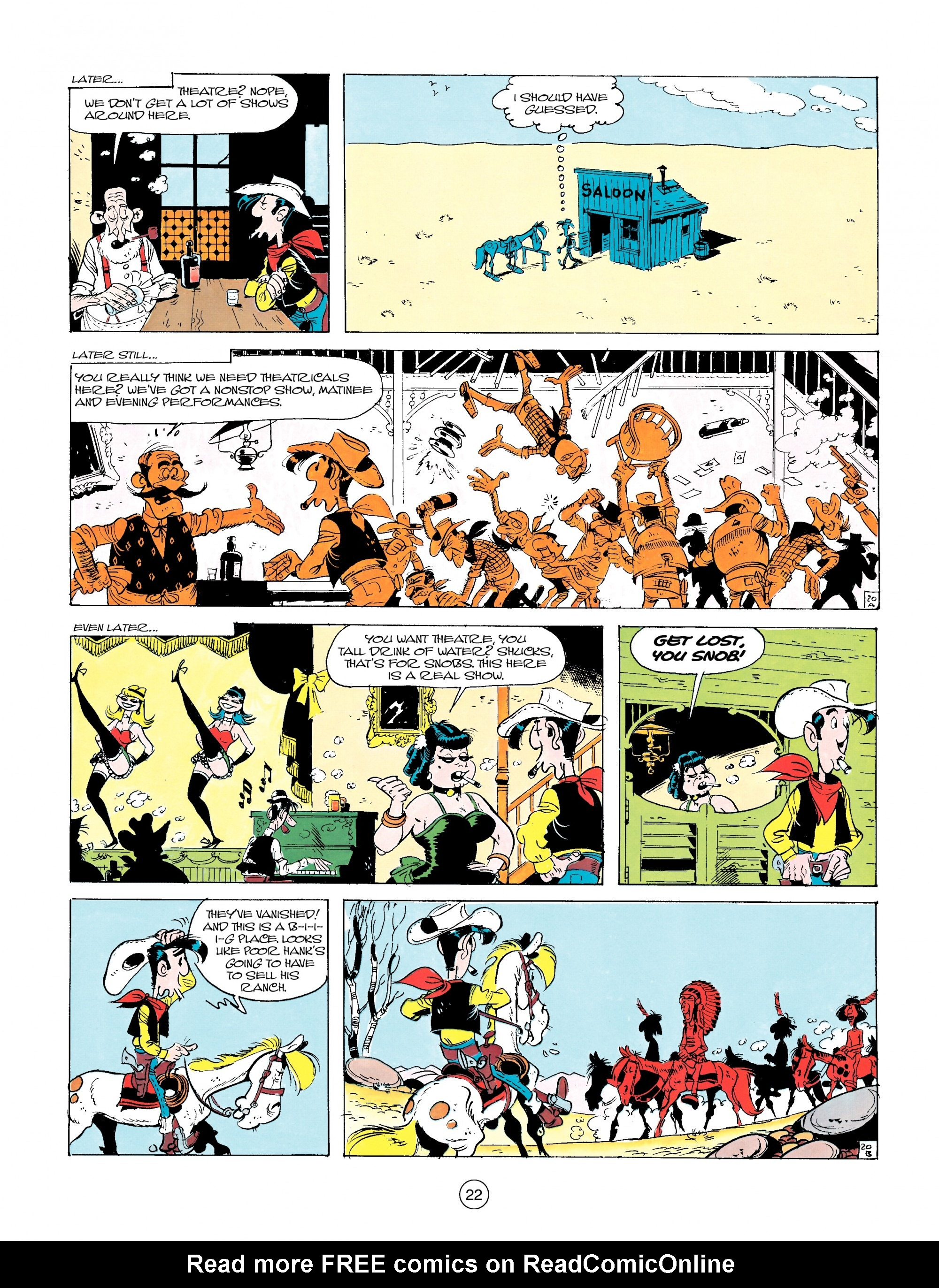 Read online A Lucky Luke Adventure comic -  Issue #14 - 22