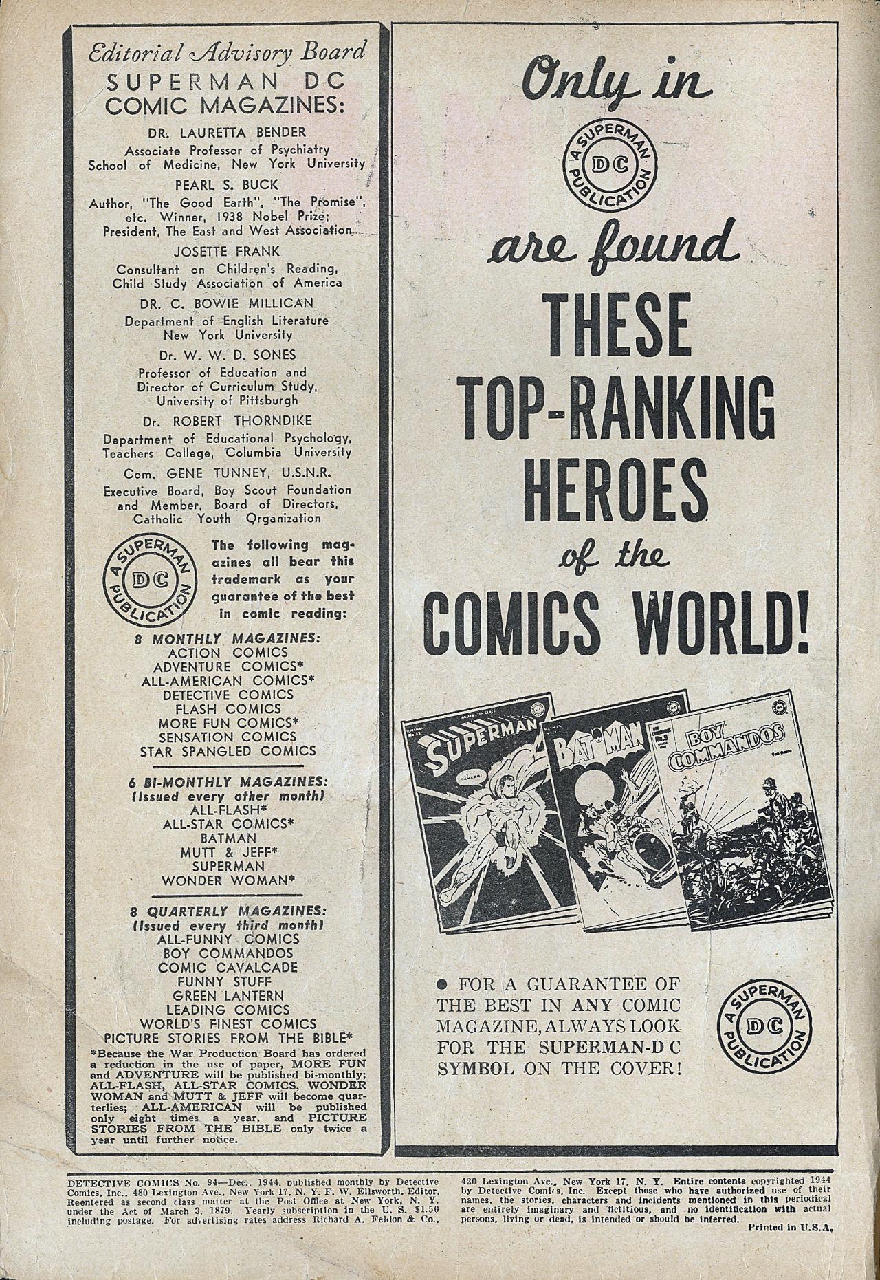 Read online Detective Comics (1937) comic -  Issue #94 - 2