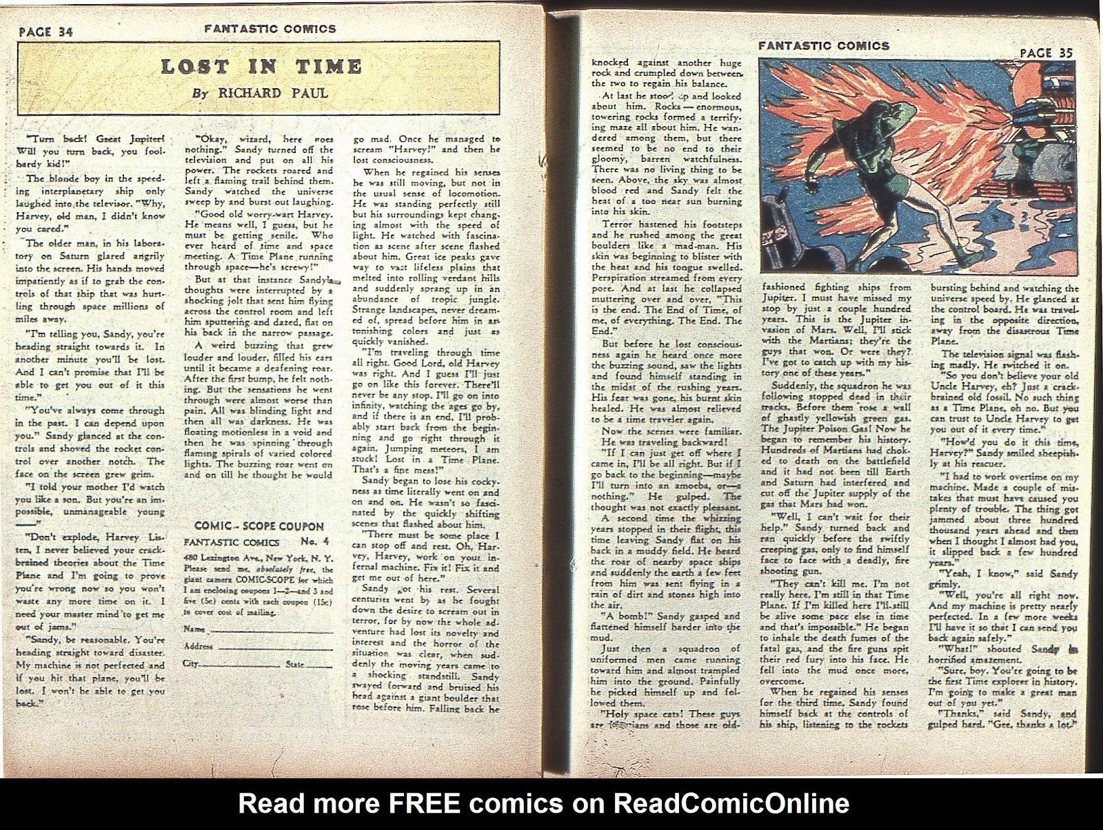 Read online Fantastic Comics comic -  Issue #4 - 36
