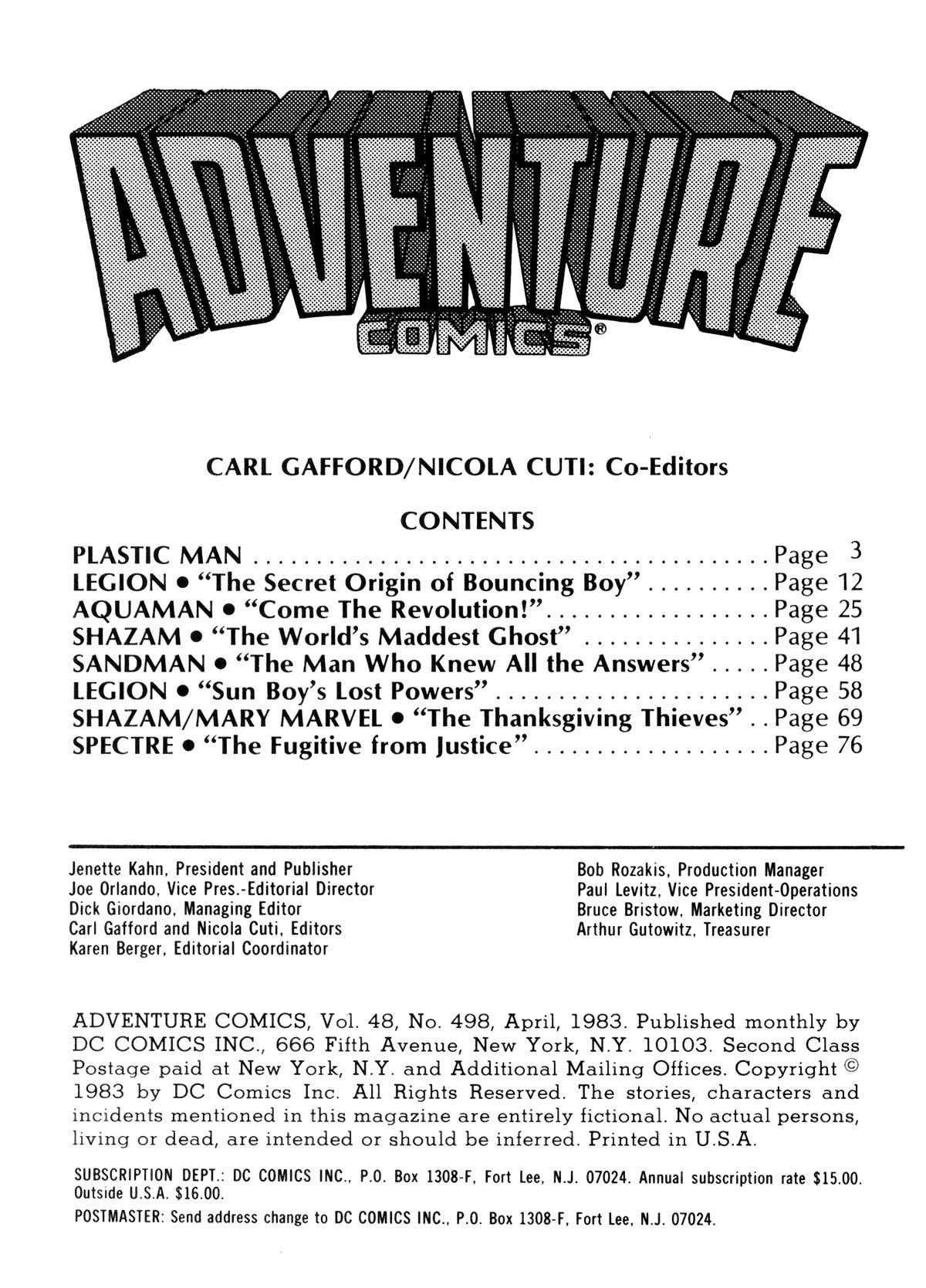 Read online Adventure Comics (1938) comic -  Issue #498 - 2