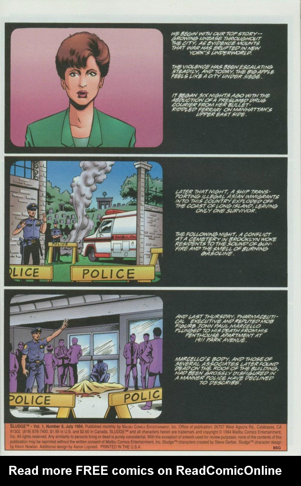 Read online Sludge comic -  Issue #8 - 2
