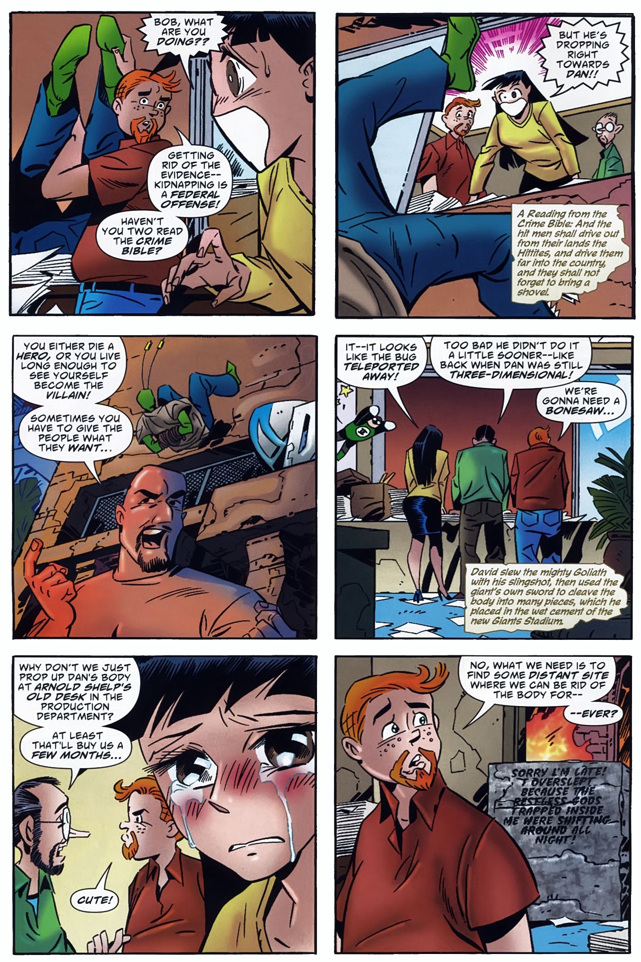 Read online Ambush Bug: Year None comic -  Issue #4 - 5