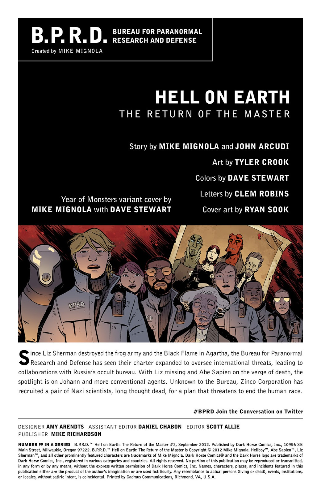 Read online B.P.R.D. Hell on Earth: The Return of the Master comic -  Issue #2 - 2
