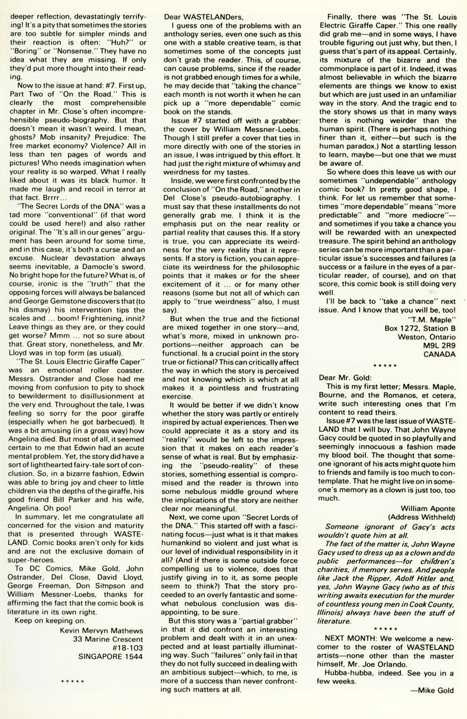 Wasteland (1987) 11 Page 30