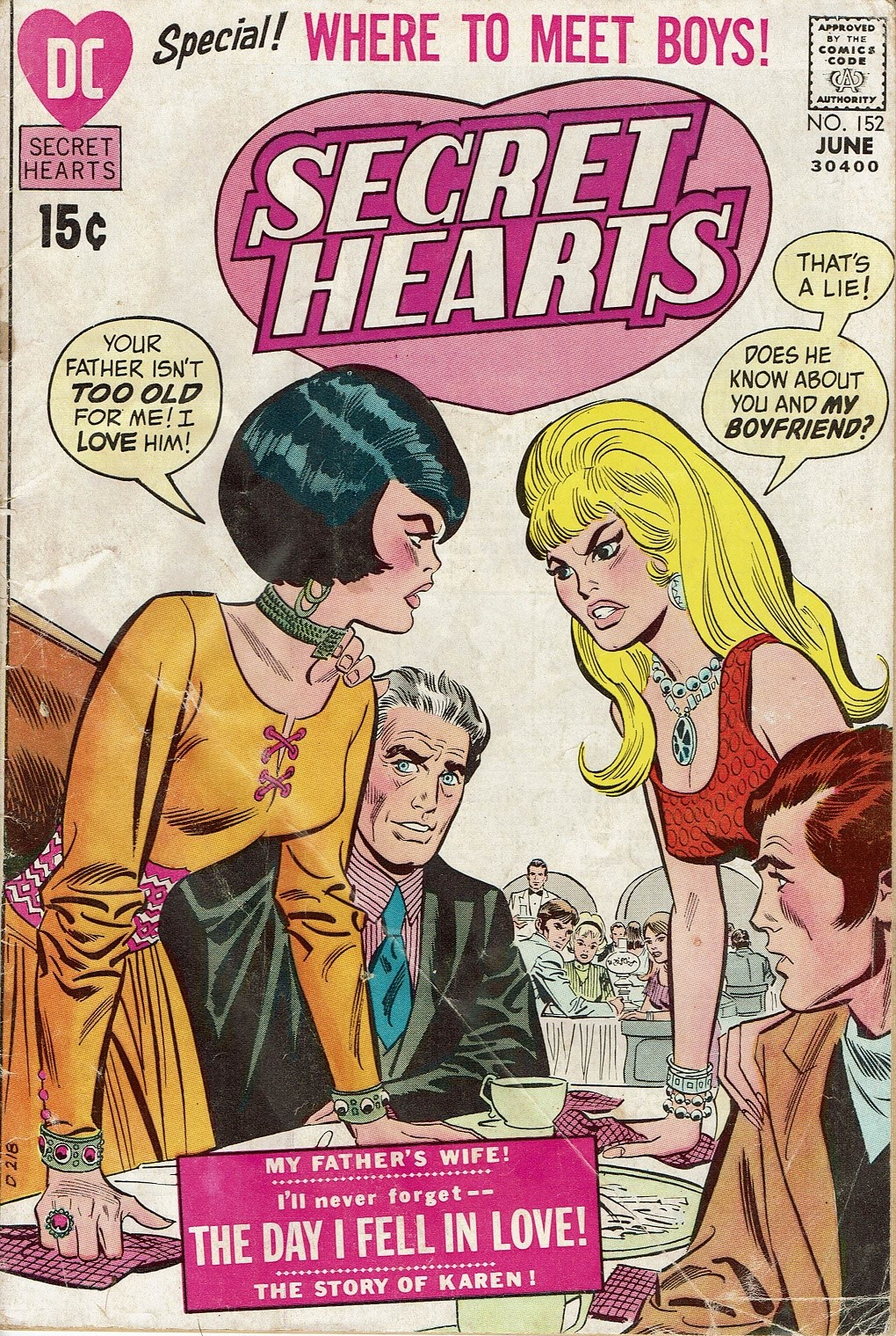 Read online Secret Hearts comic -  Issue #152 - 1