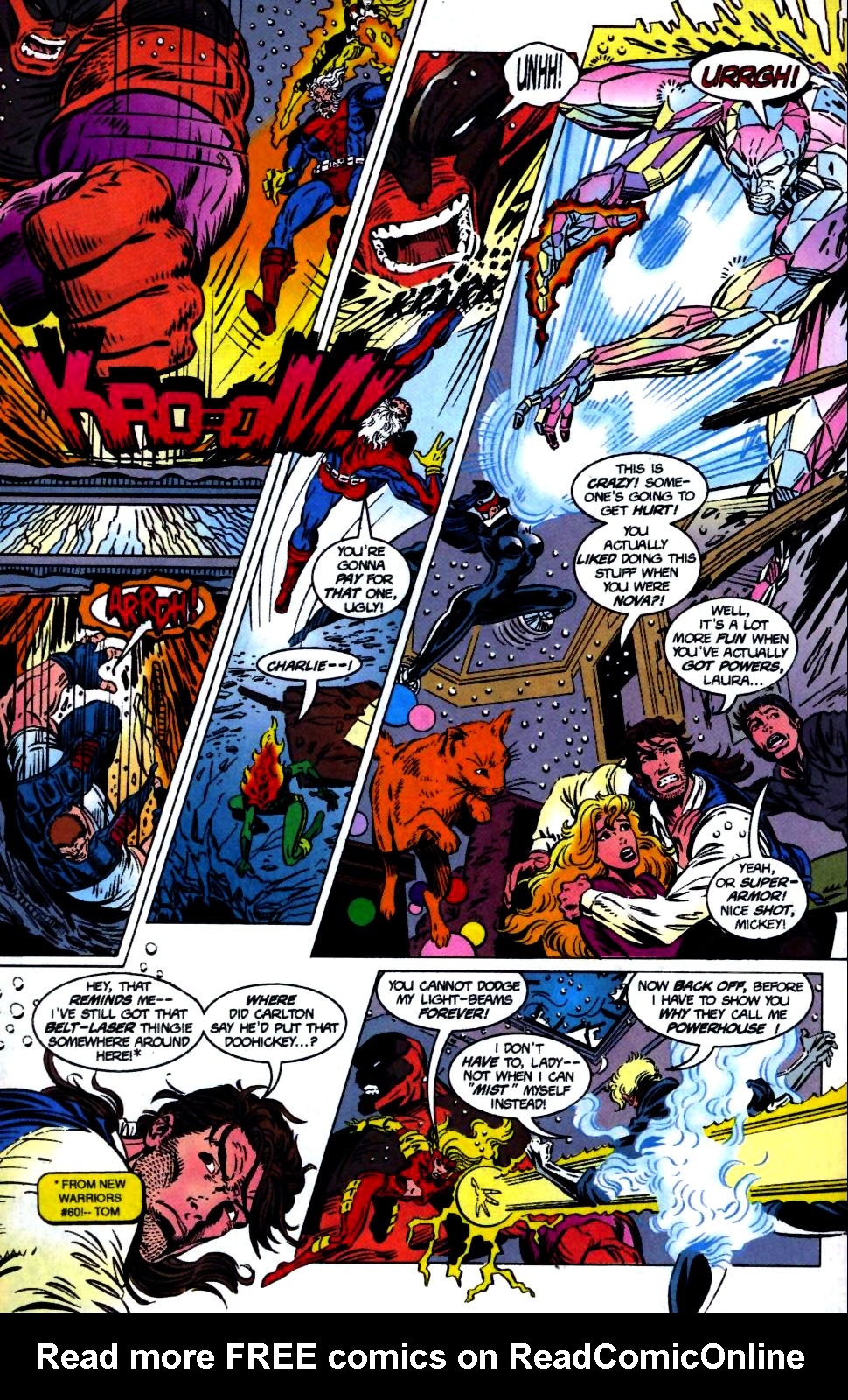 The New Warriors Issue #68 #72 - English 19