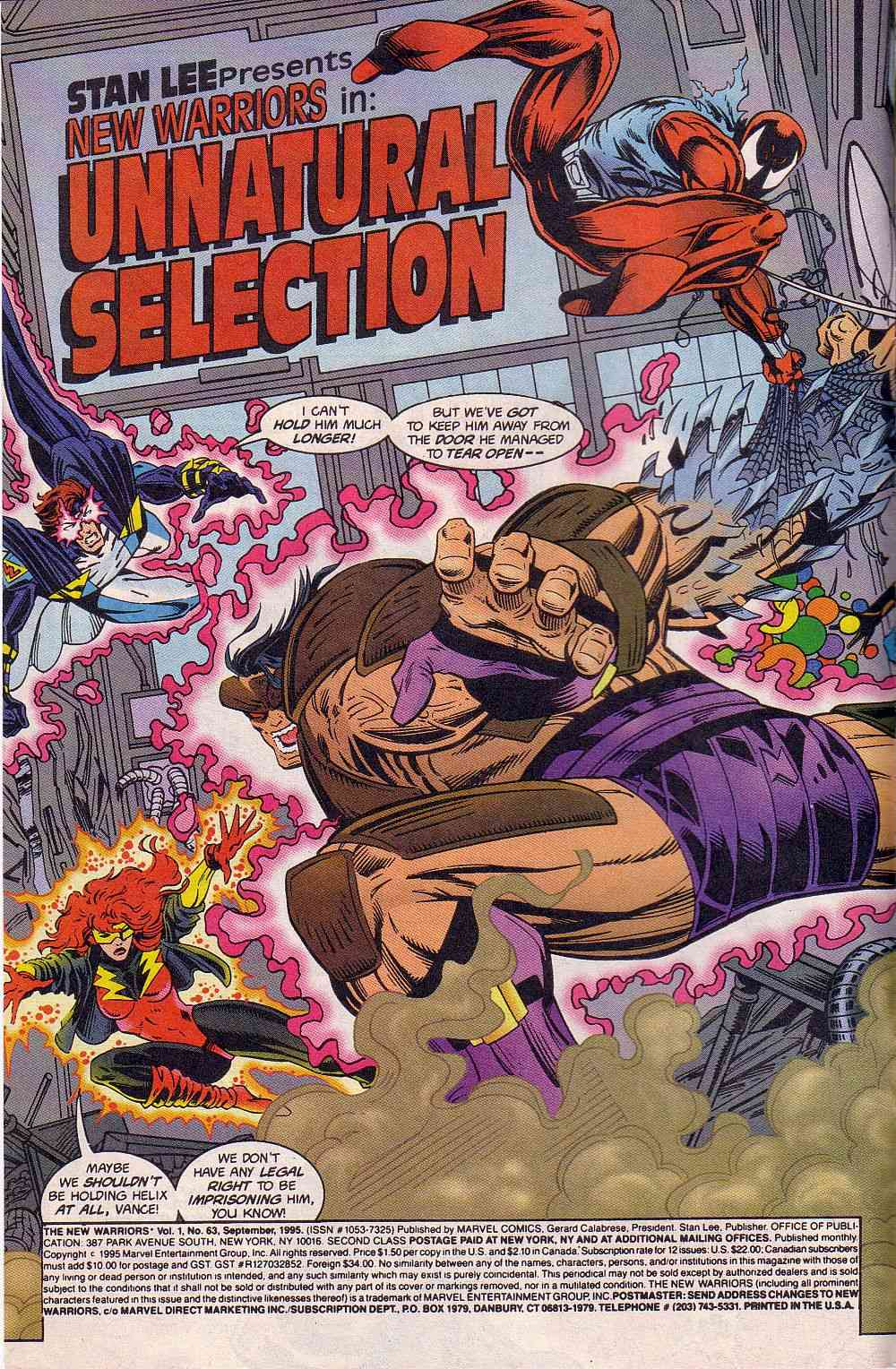 The New Warriors Issue #63 #67 - English 3