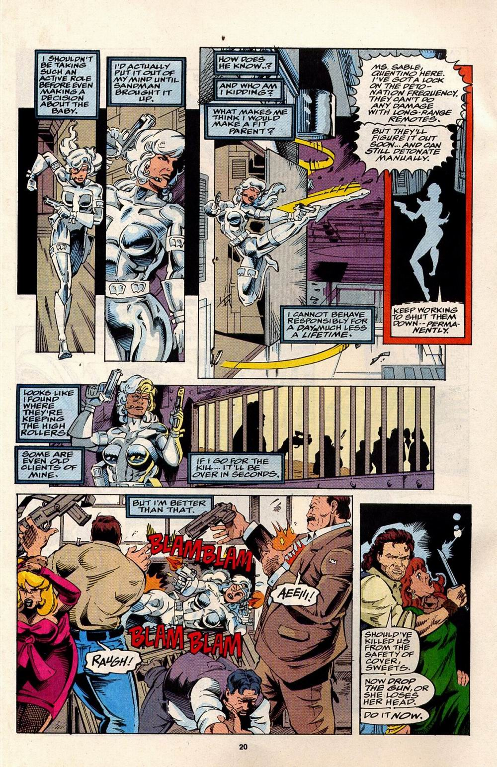 Read online Silver Sable and the Wild Pack comic -  Issue #32 - 16