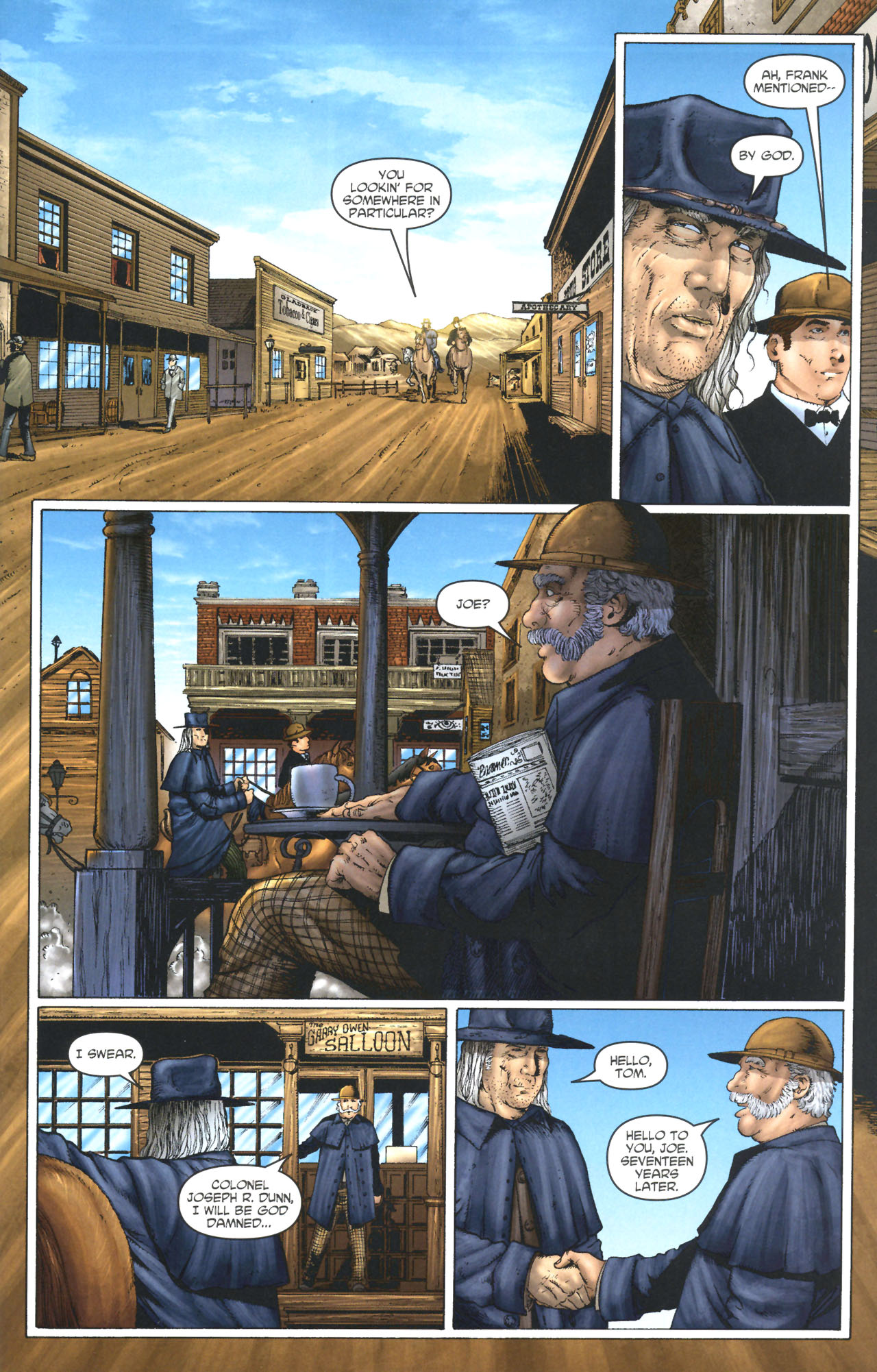 Read online Garth Ennis' Streets of Glory comic -  Issue #1 - 21