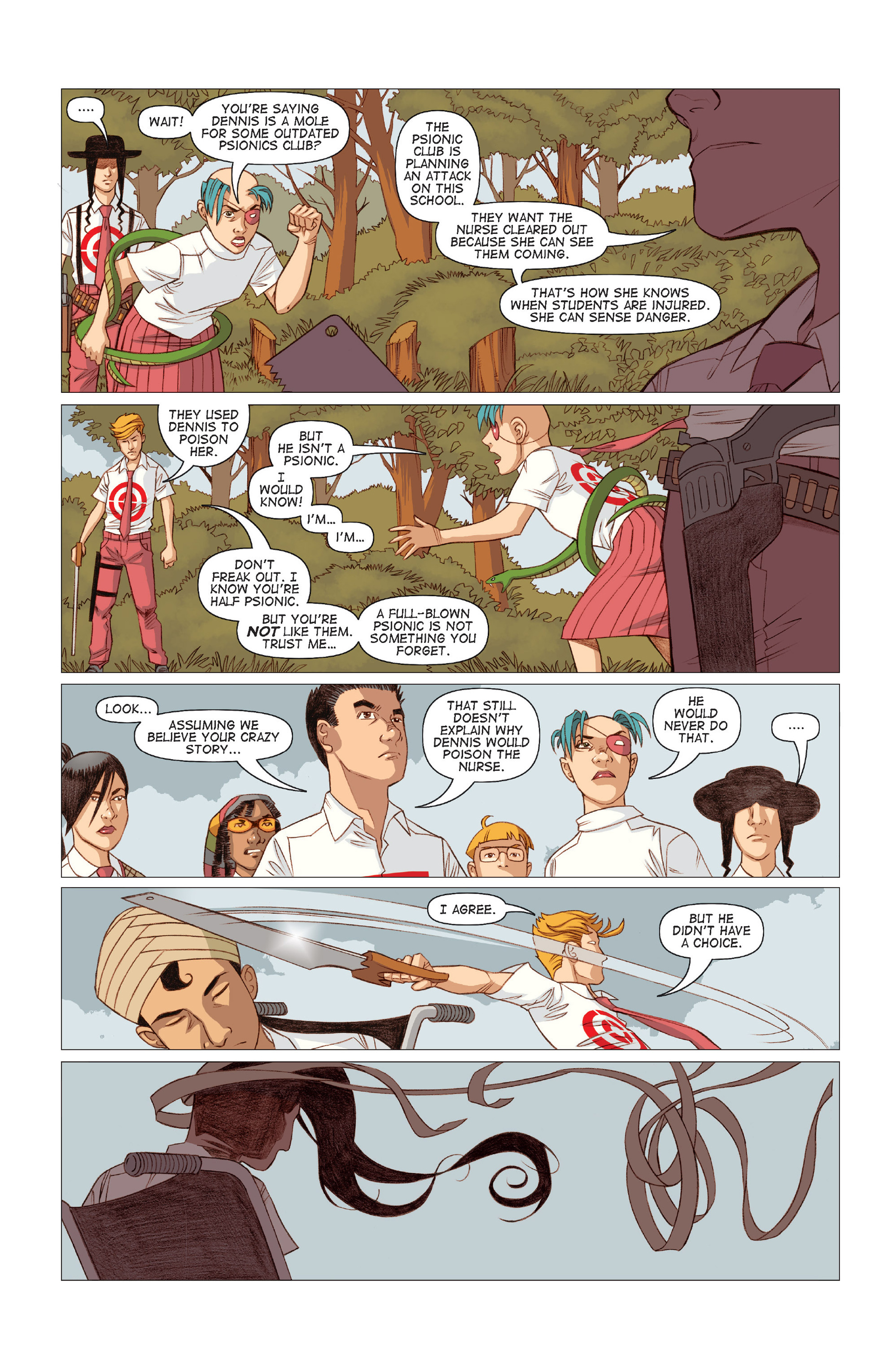 Read online Five Weapons comic -  Issue #9 - 19