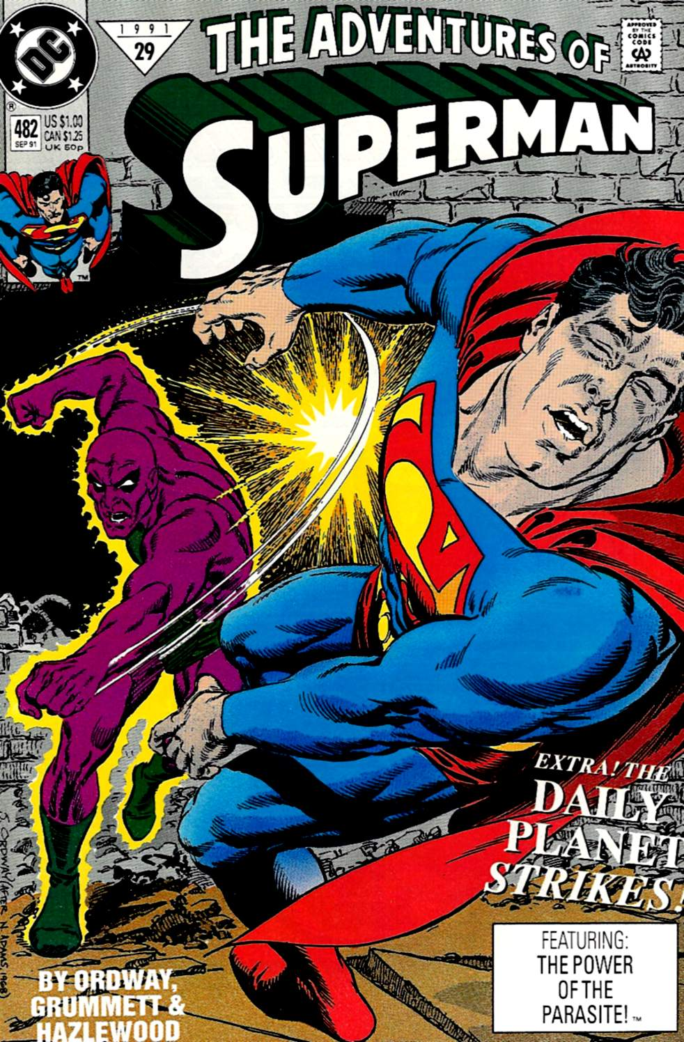 Read online Adventures of Superman (1987) comic -  Issue #482 - 1