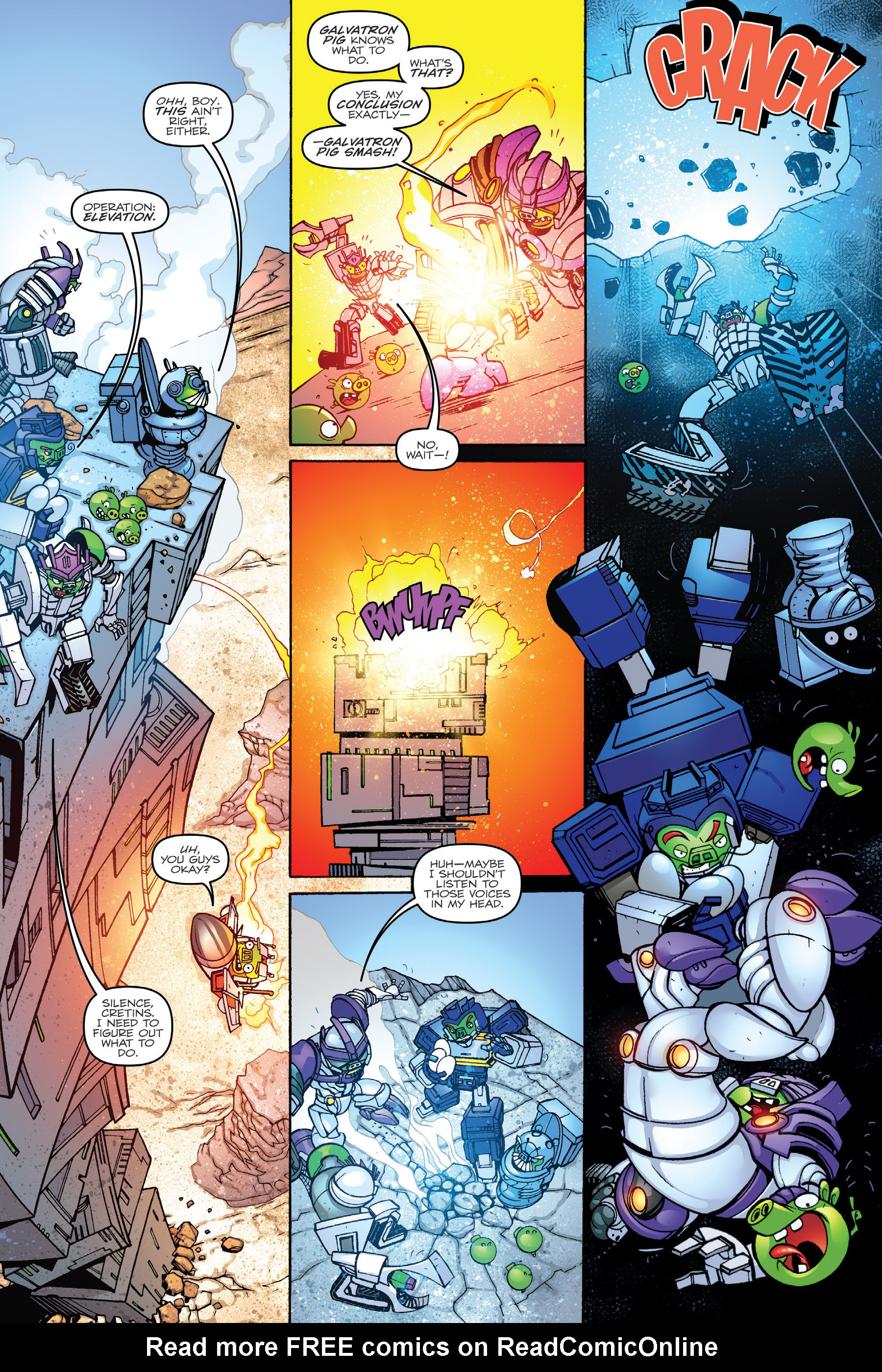 Read online Angry Birds Transformers: Age of Eggstinction comic -  Issue # Full - 36