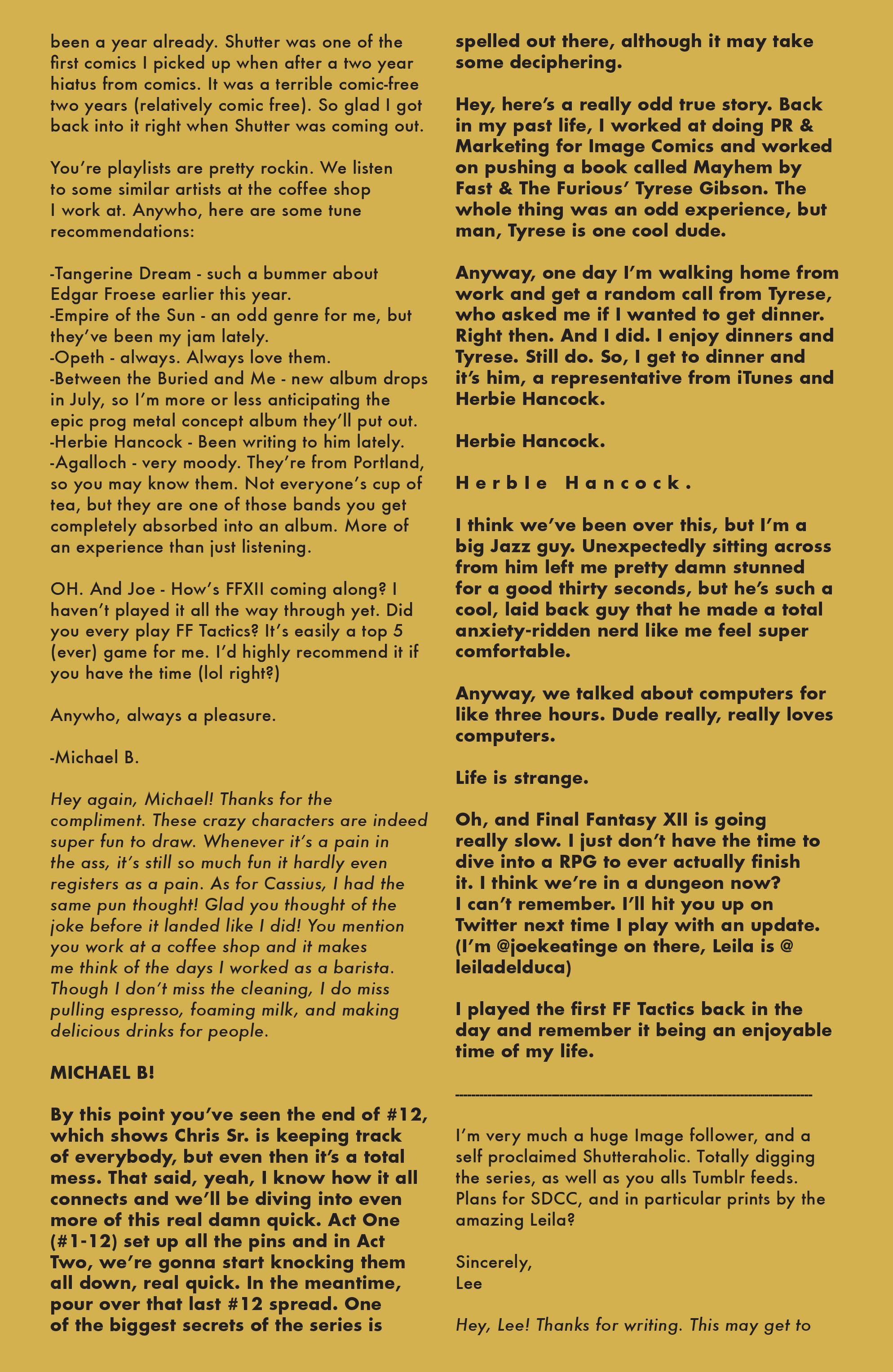 Read online Shutter comic -  Issue #13 - 21
