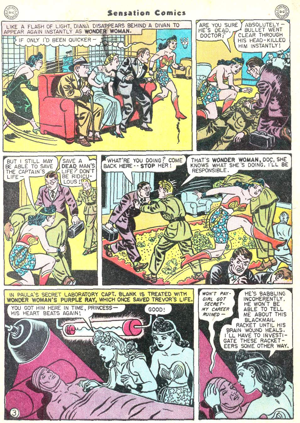 Read online Sensation (Mystery) Comics comic -  Issue #50 - 5