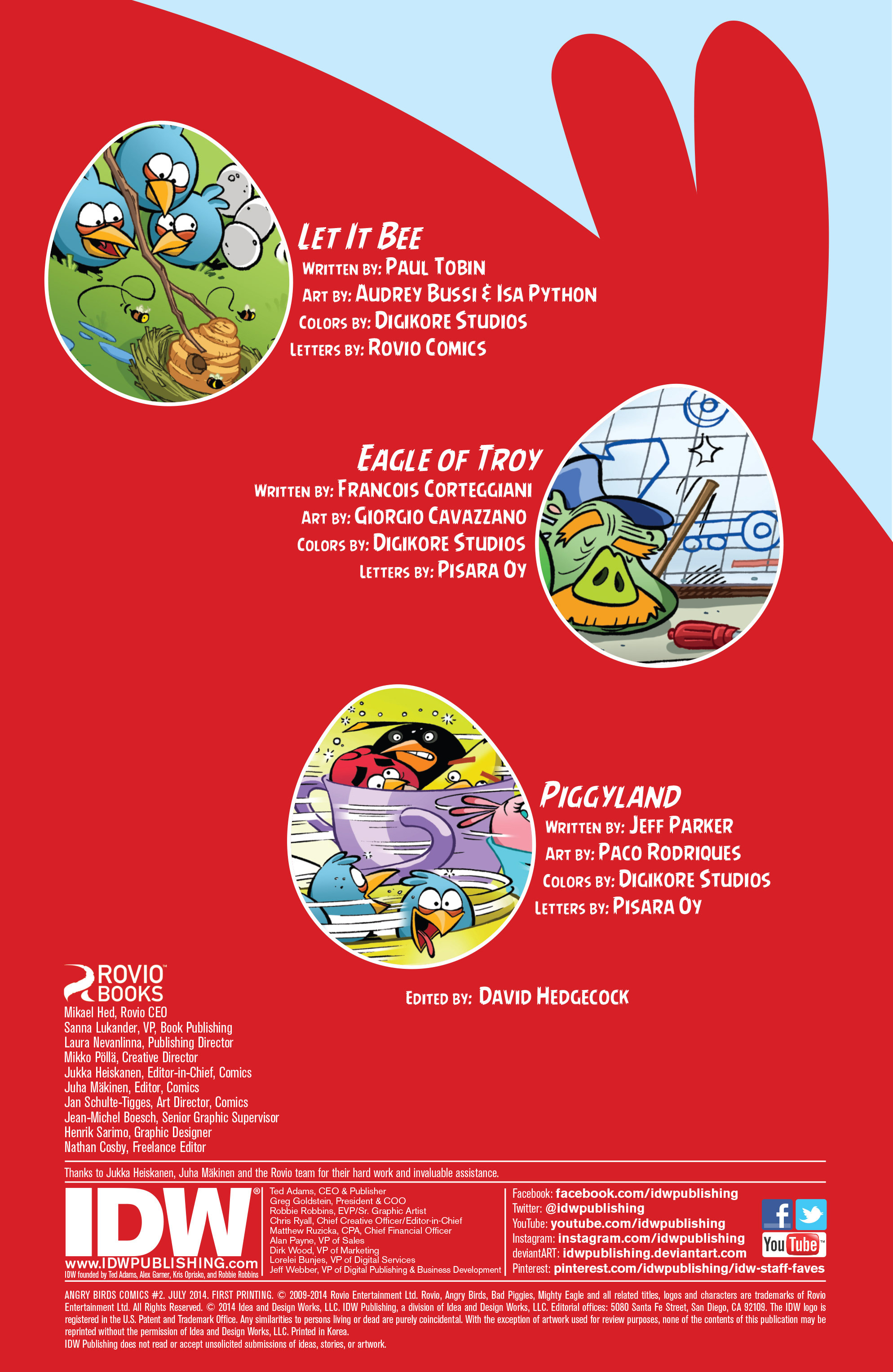 Read online Angry Birds Comics (2014) comic -  Issue #2 - 2