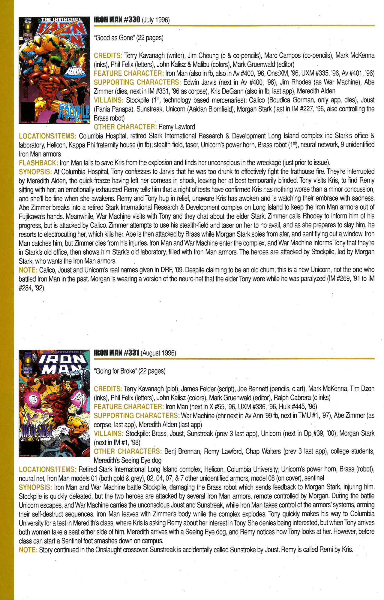Read online Official Index to the Marvel Universe comic -  Issue #9 - 40