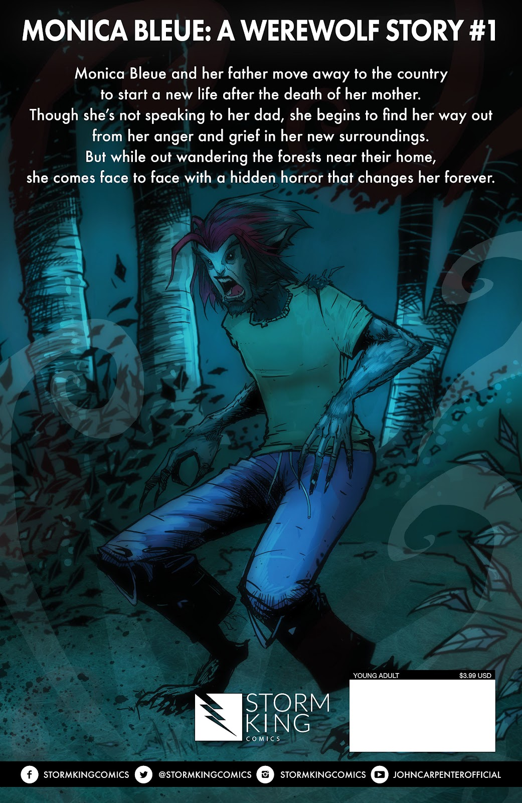 Read online John Carpenter Presents Storm Kids: Monica Bleue: A Werewolf Story comic -  Issue #1 - 29