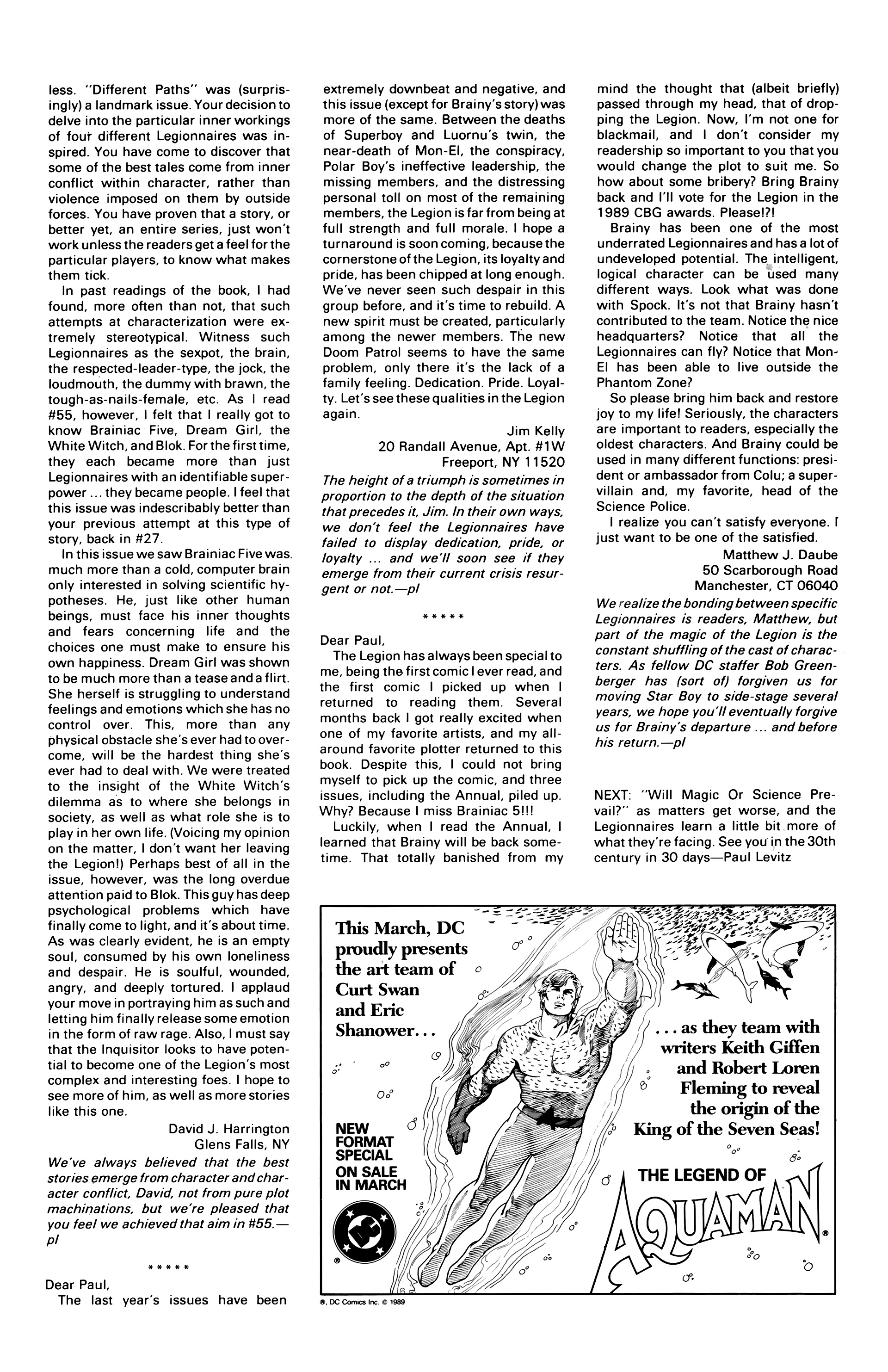Legion of Super-Heroes (1984) 60 Page 29