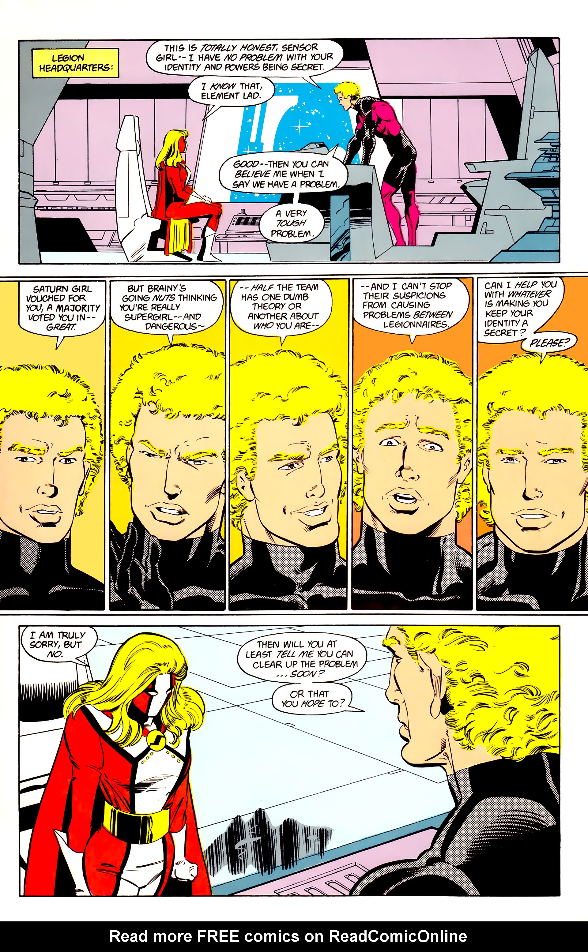 Legion of Super-Heroes (1984) 24 Page 21