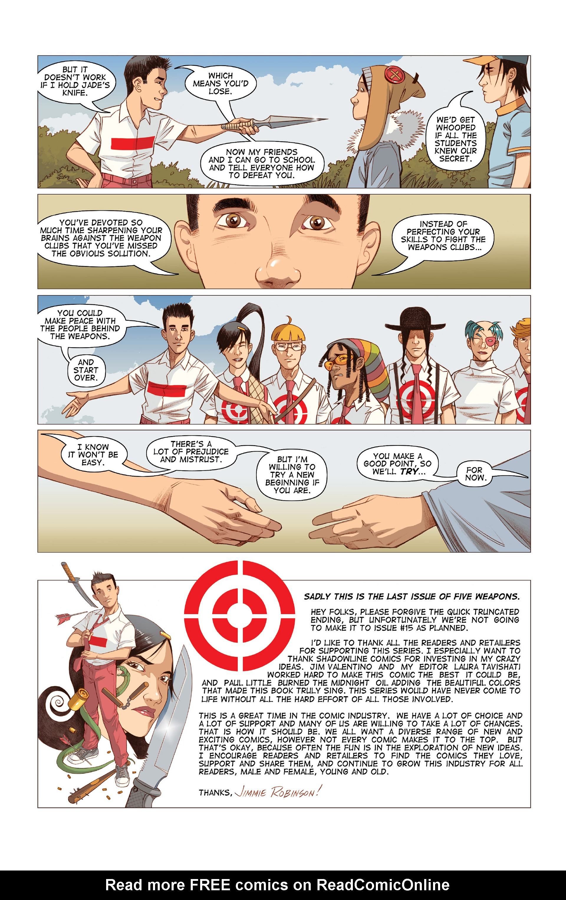 Read online Five Weapons comic -  Issue #10 - 26