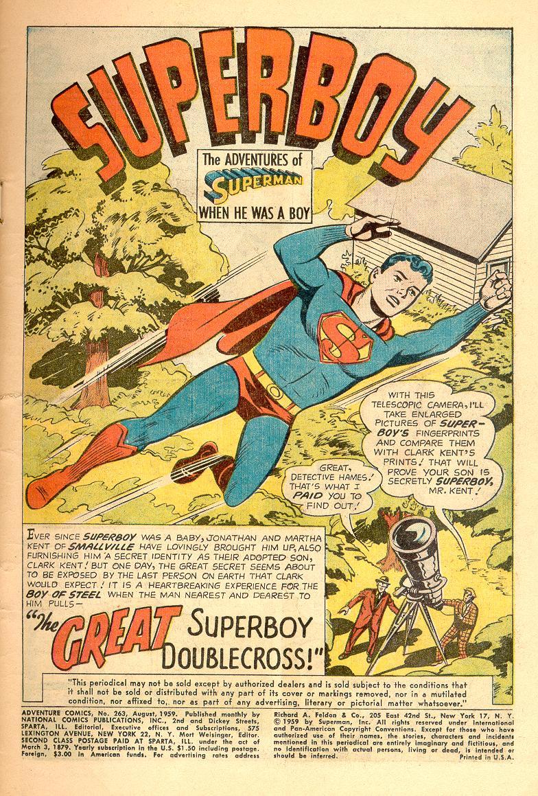 Read online Adventure Comics (1938) comic -  Issue #263 - 3
