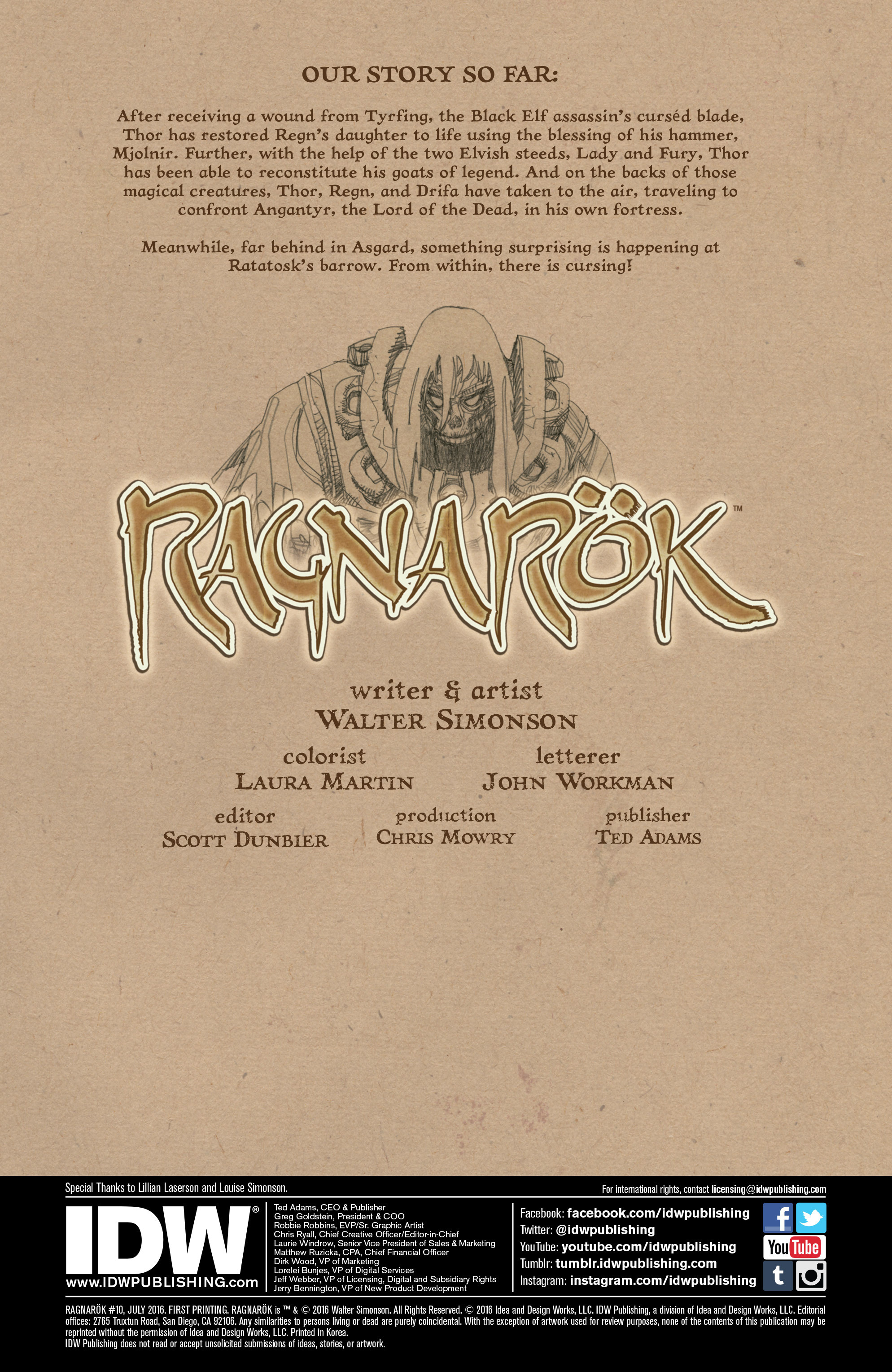 Read online Ragnarok comic -  Issue #10 - 2