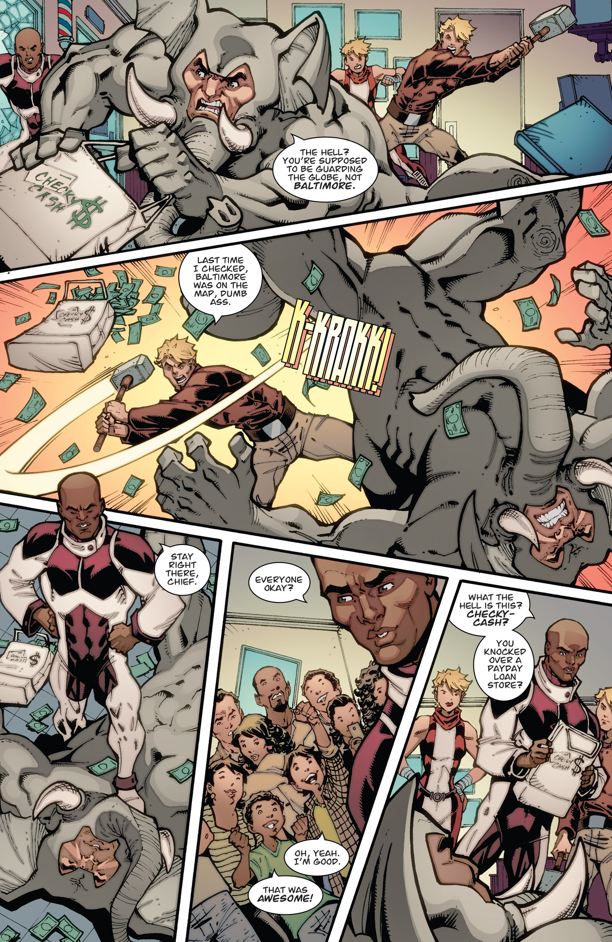 Read online Guarding the Globe (2012) comic -  Issue #3 - 7