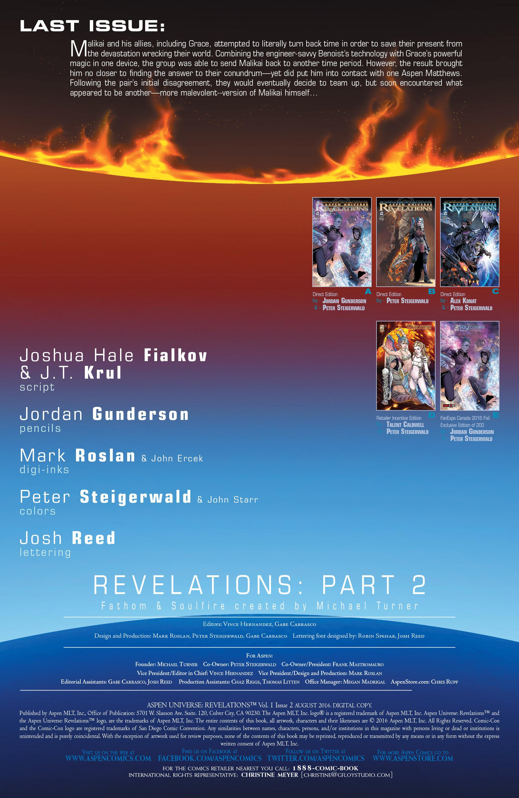 Read online Aspen Universe: Revelations comic -  Issue #2 - 4