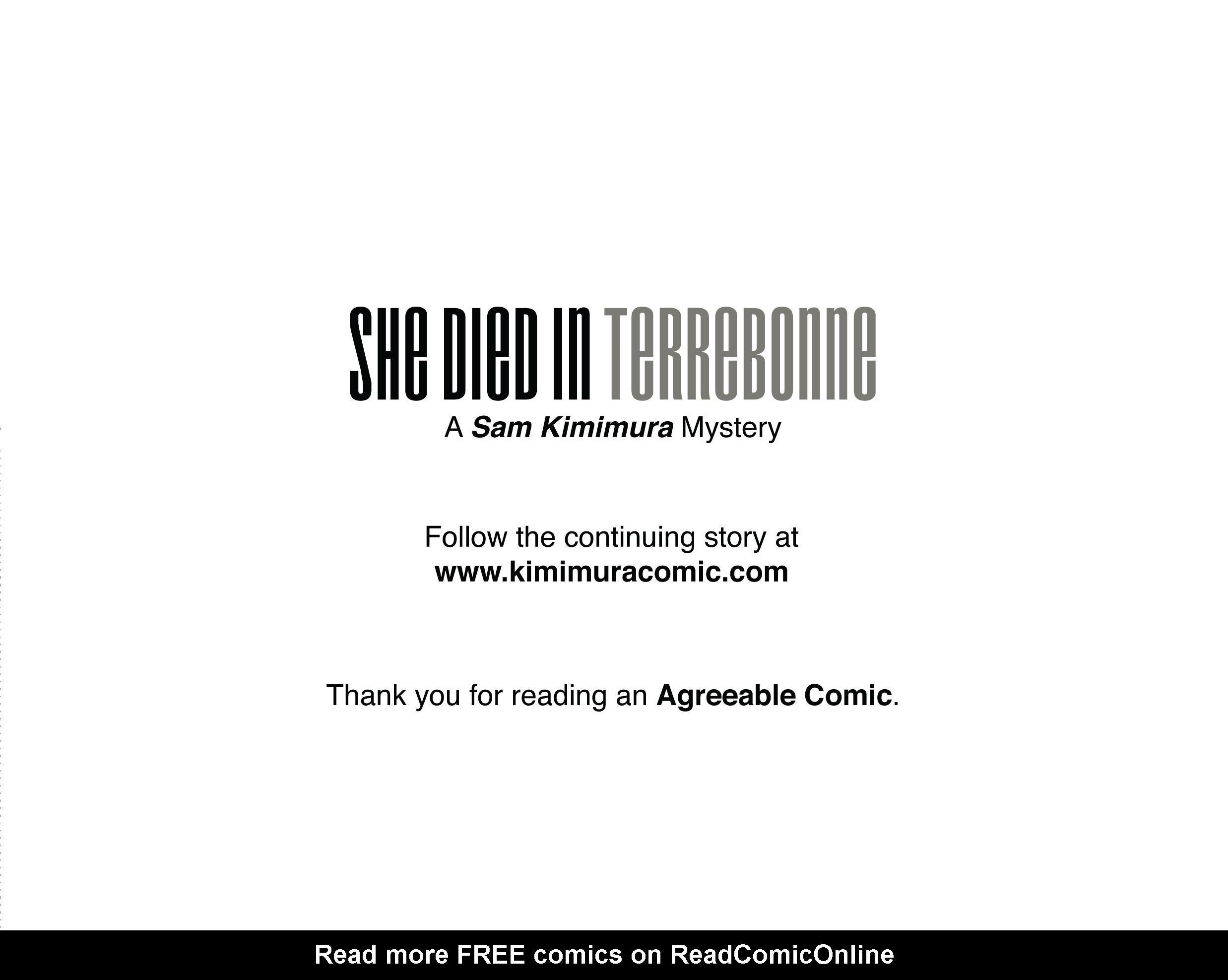 Read online She Died In Terrebonne comic -  Issue #3 - 27