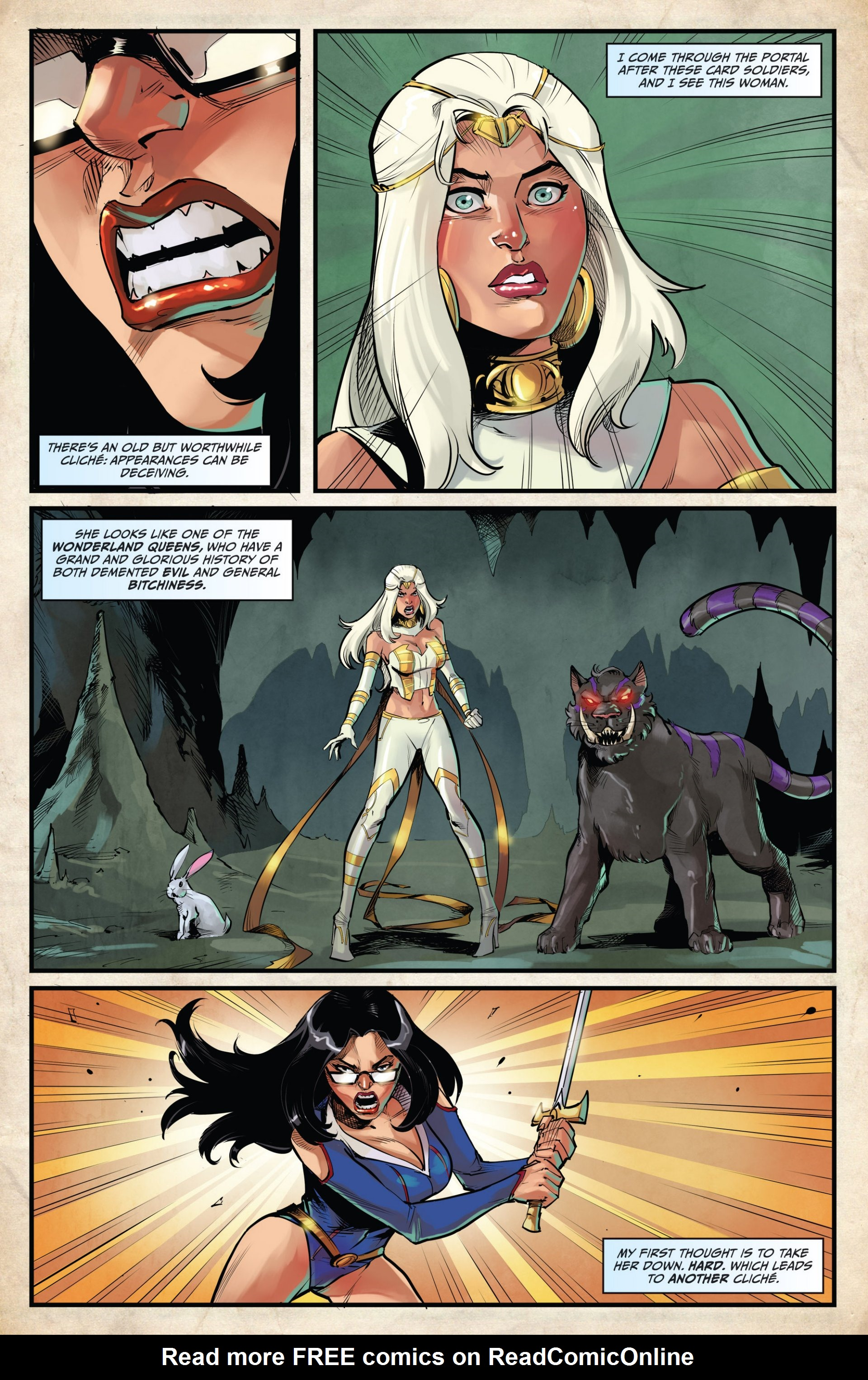 Read online Grimm Fairy Tales vs. Wonderland comic -  Issue #2 - 4