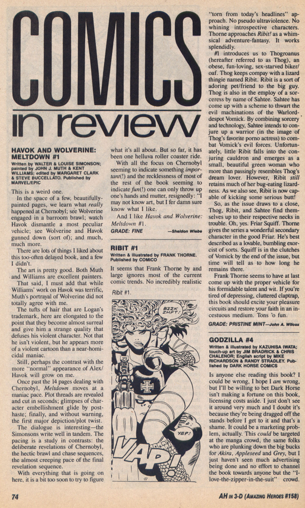 Read online Amazing Heroes comic -  Issue #158 - 75